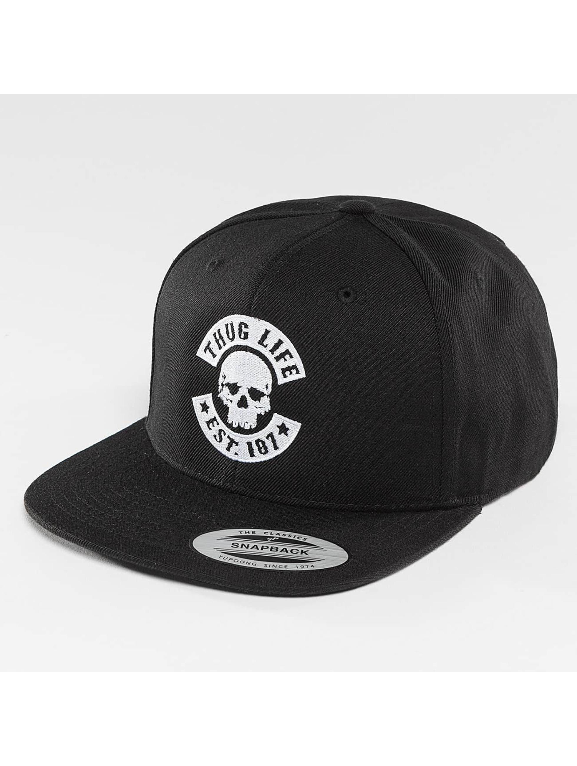 Thug Life Basic Snapback Cap Basic Skull black