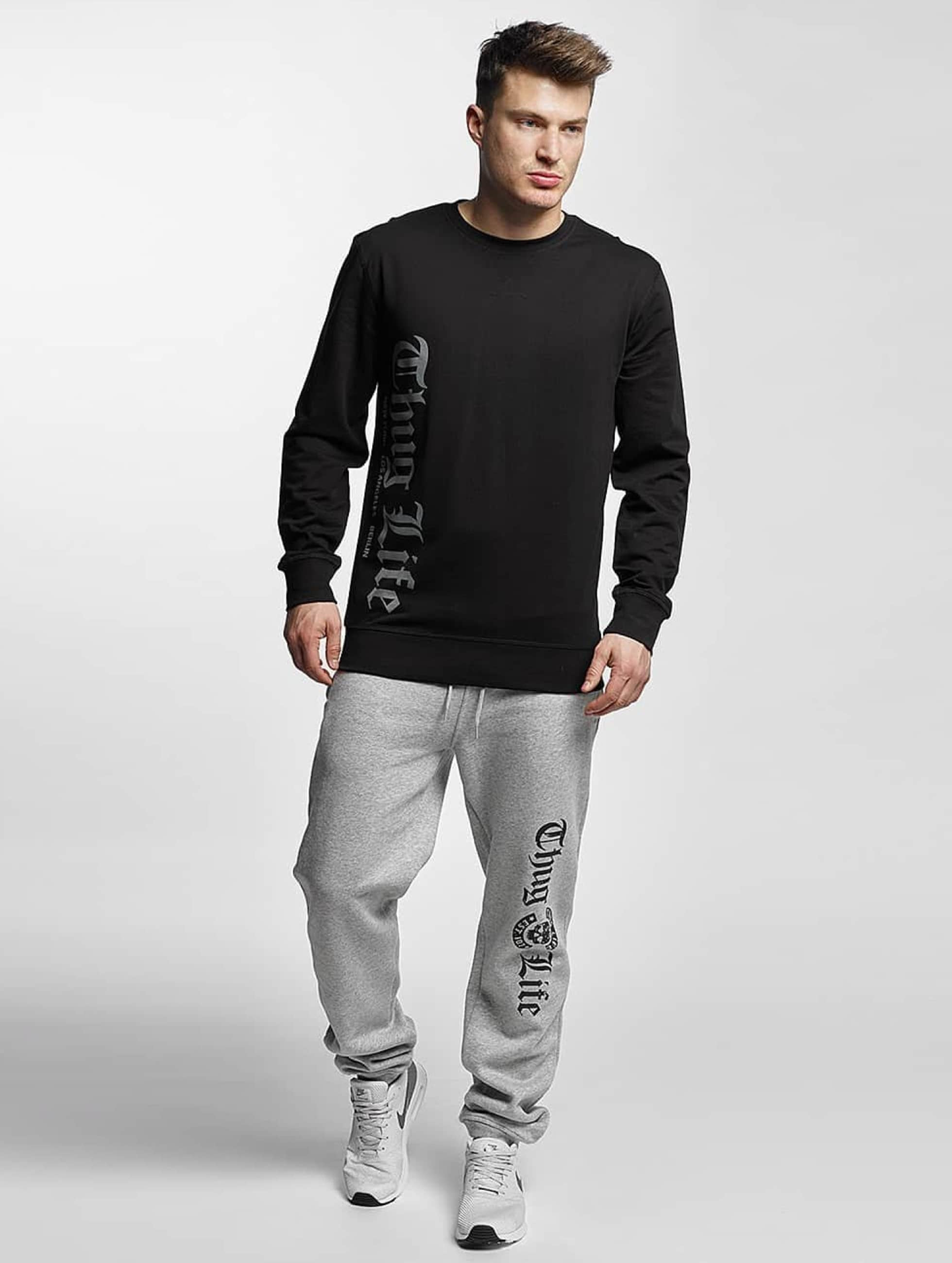 Thug Life Basic Sweat Pant Old English gray