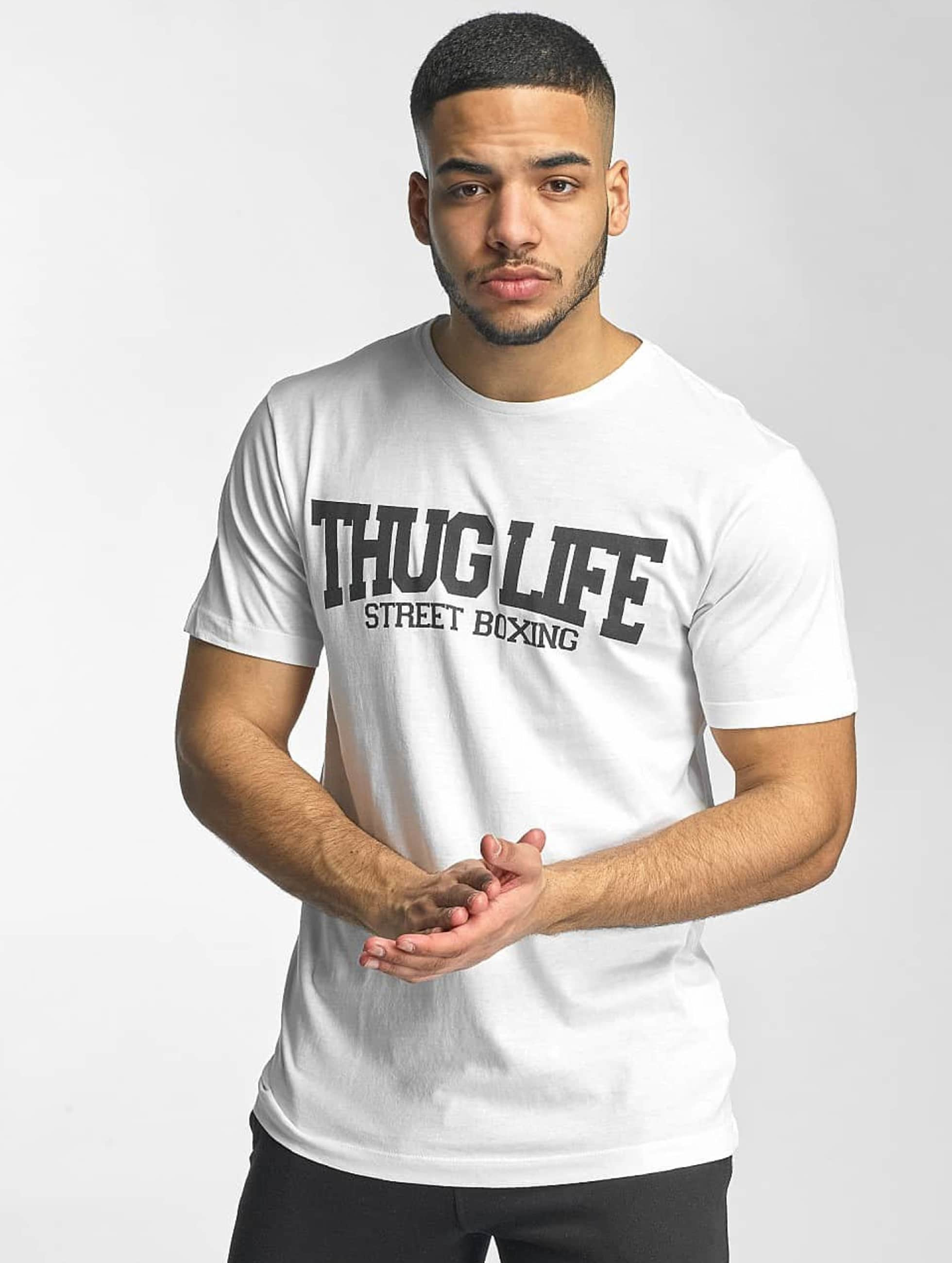 Thug Life Basic T-Shirt Street Boxing white