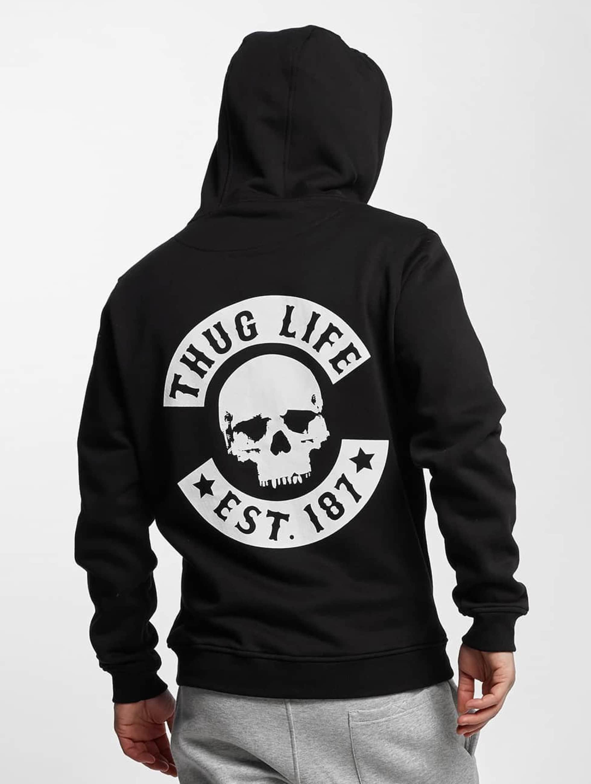 Thug Life Basic Zip Hoodie Skull black