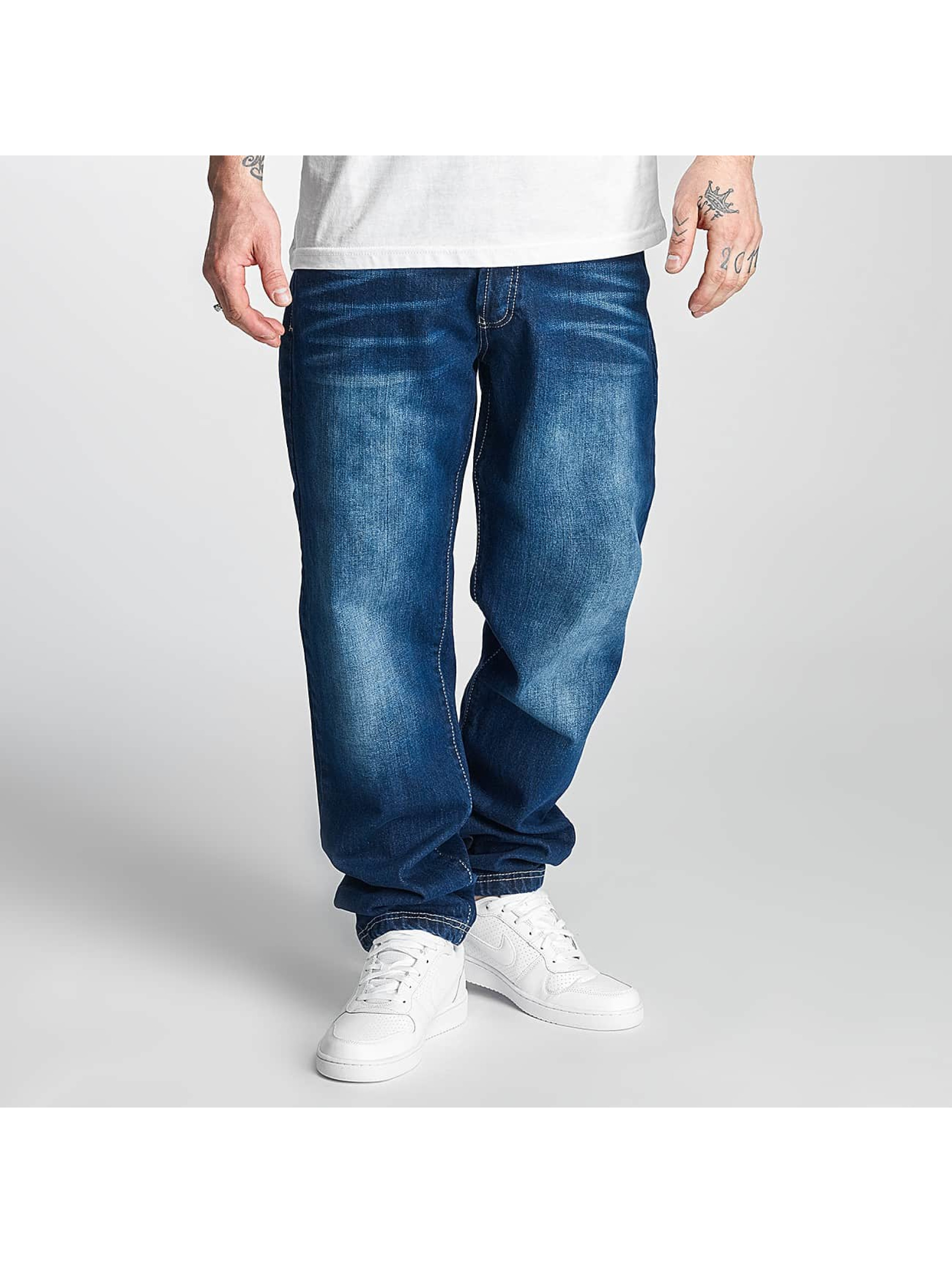 Thug Life Carrot Jeans Primorsk niebieski
