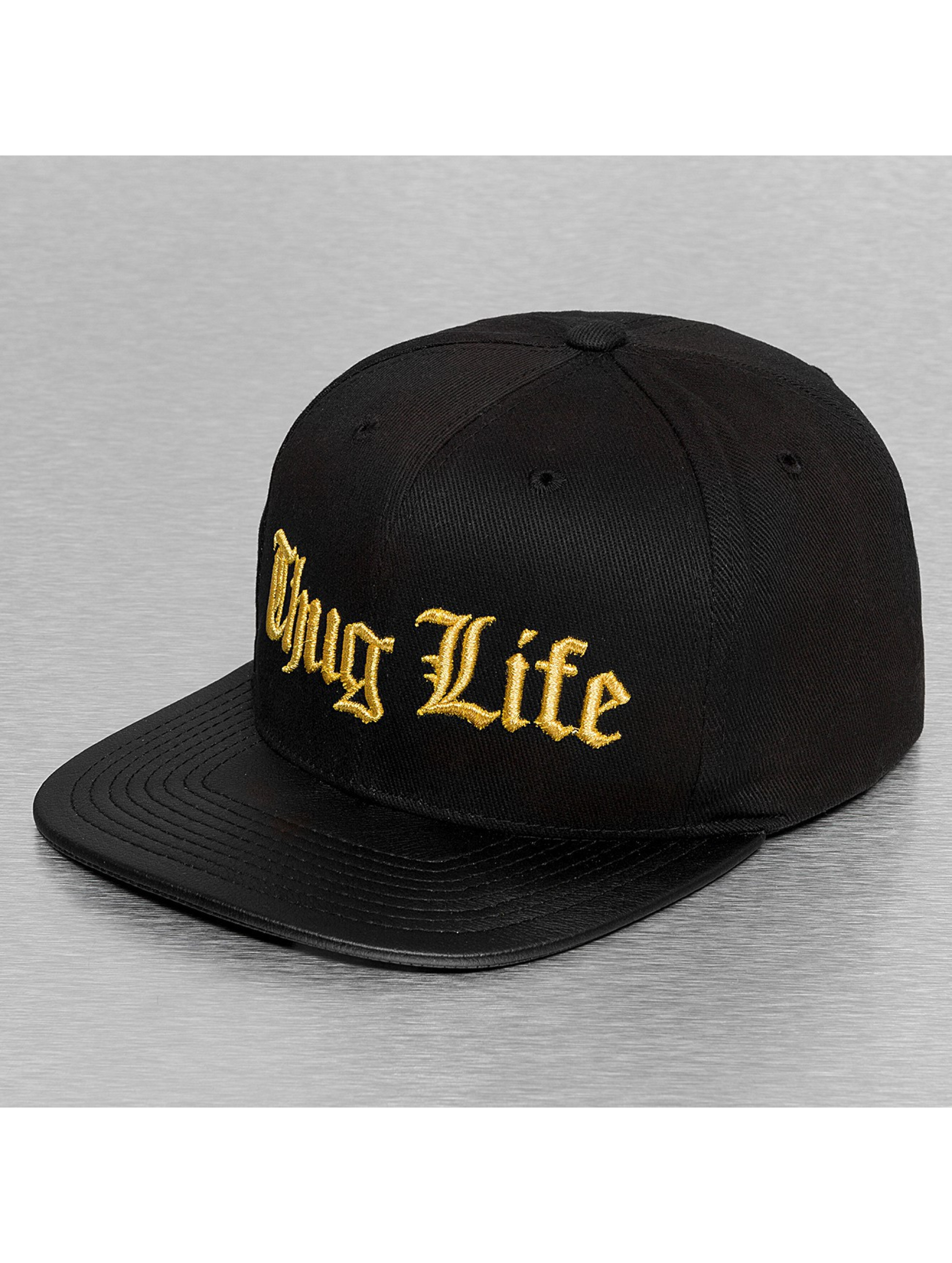 Thug Life Casquette Snapback & Strapback Golden Logo noir