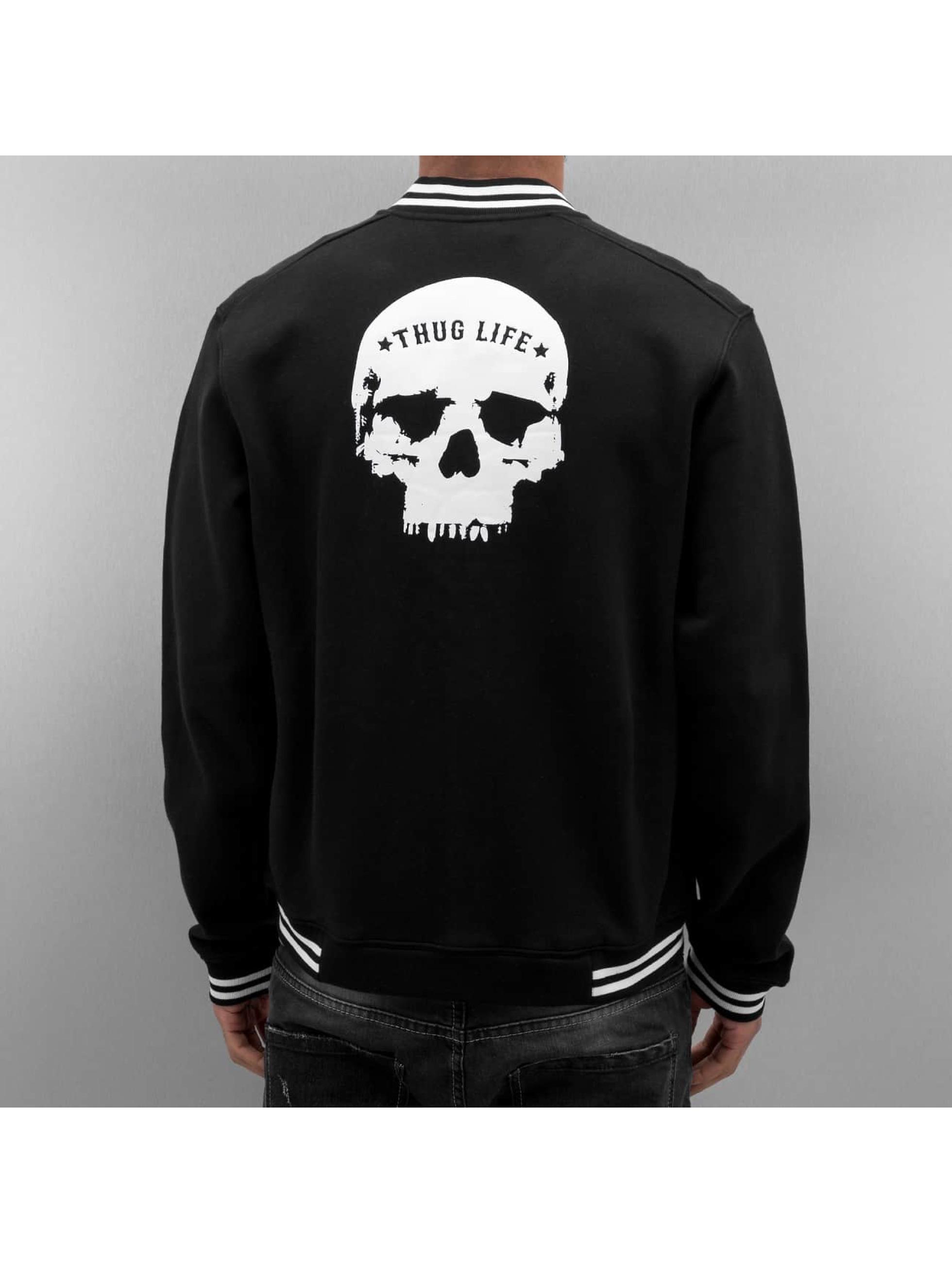 Thug Life College Jacke Throne schwarz