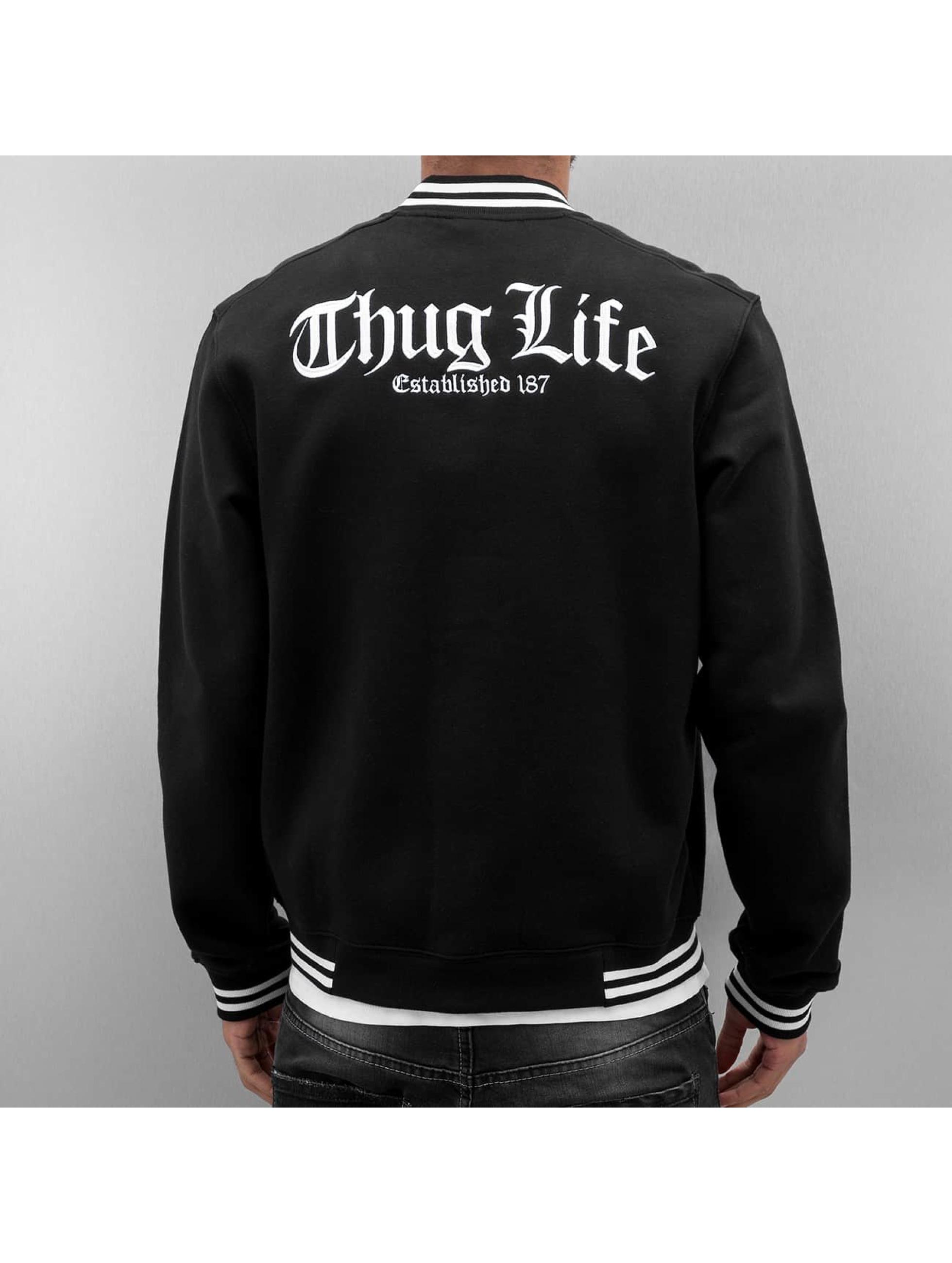 Thug Life College Jacke Zoro schwarz