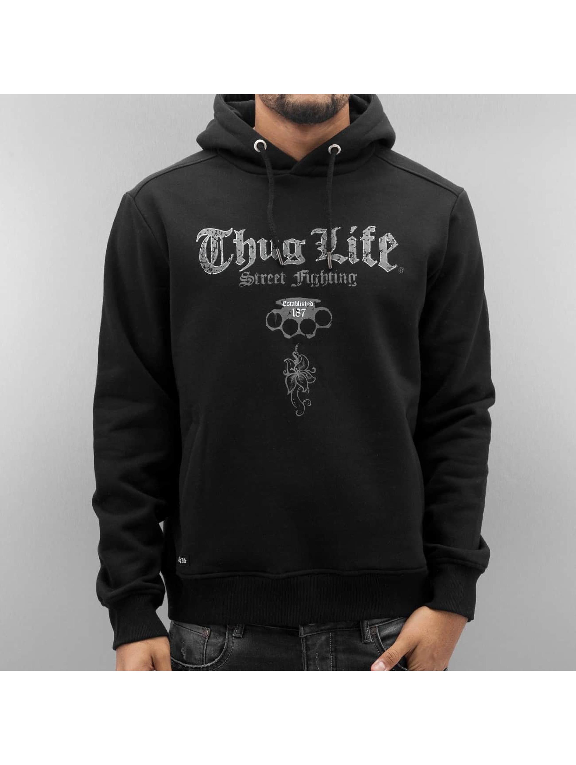 Thug Life Hoodie Deadflower black