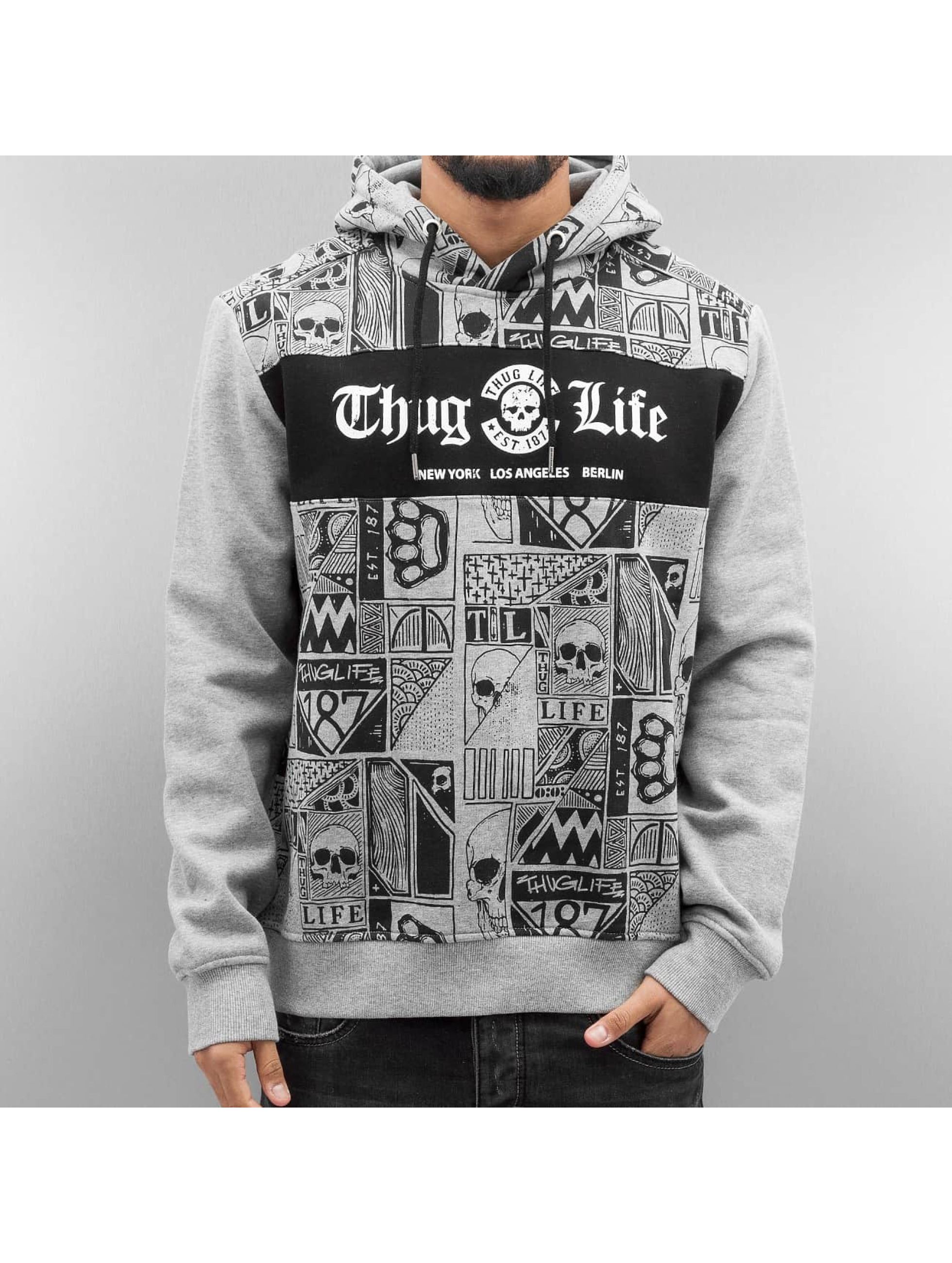 Thug Life Hoodie Broon grey