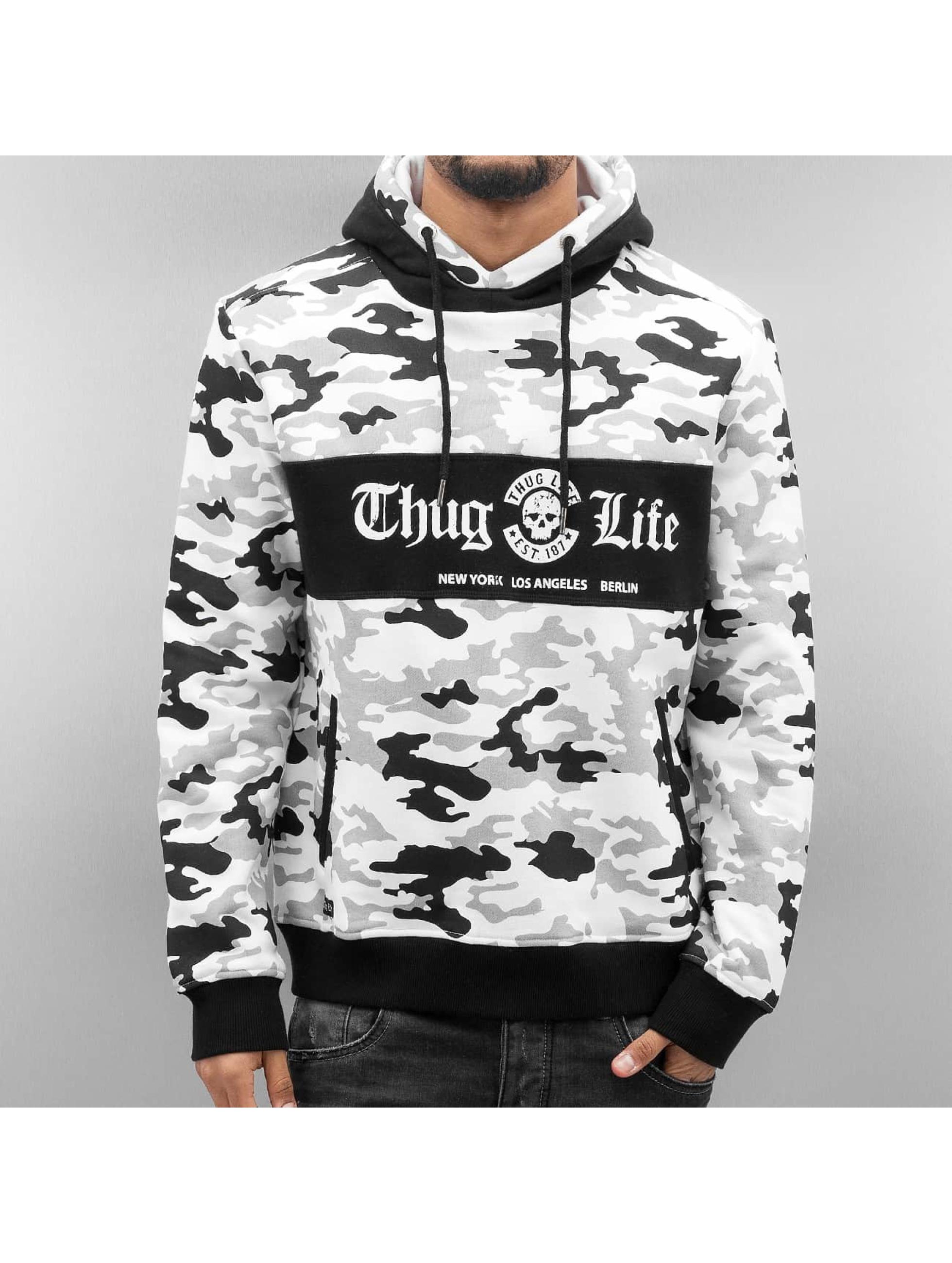 Thug Life Hoodie Ragthug white