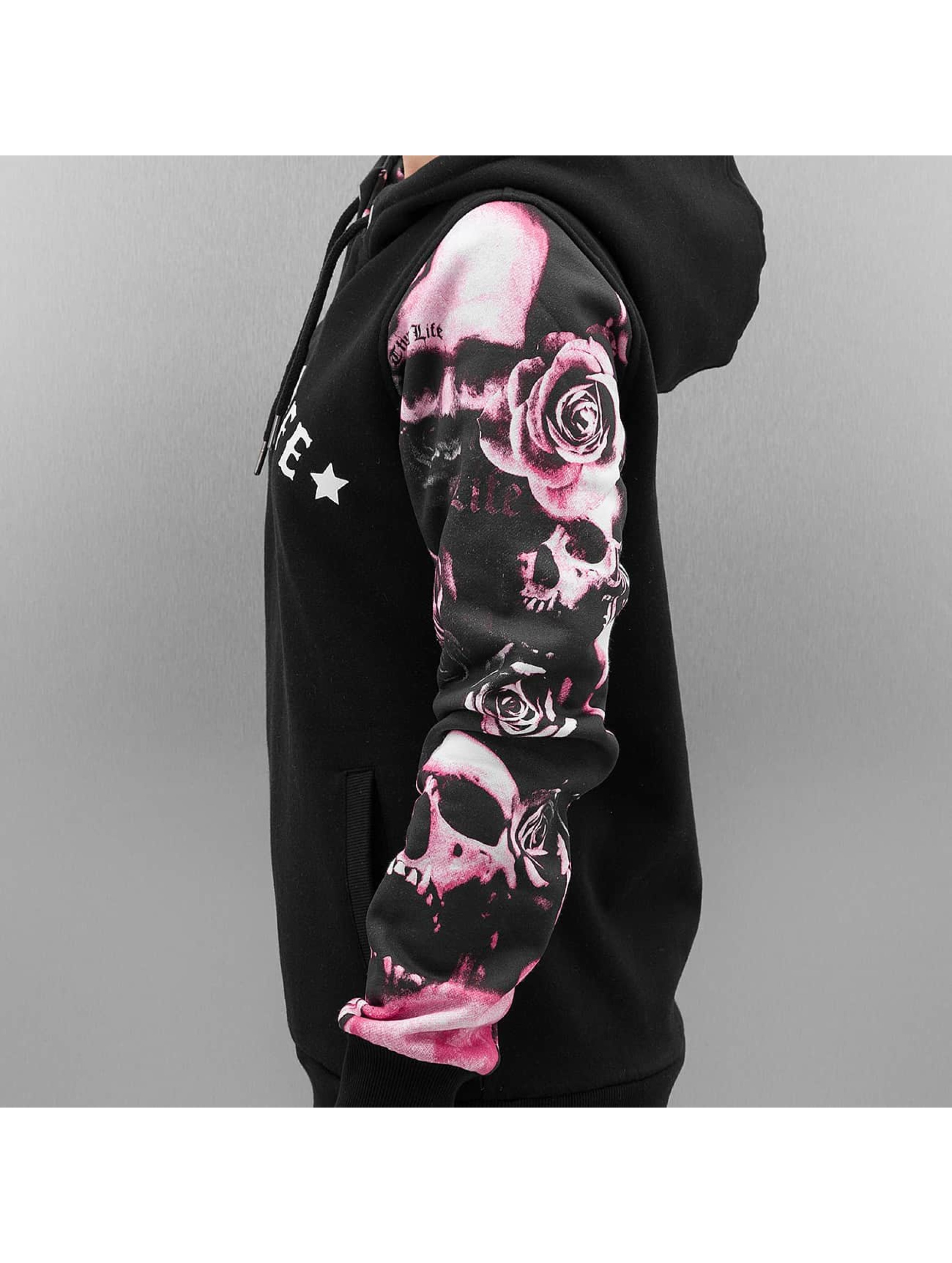 Thug Life Hoodies Skullpattern sort