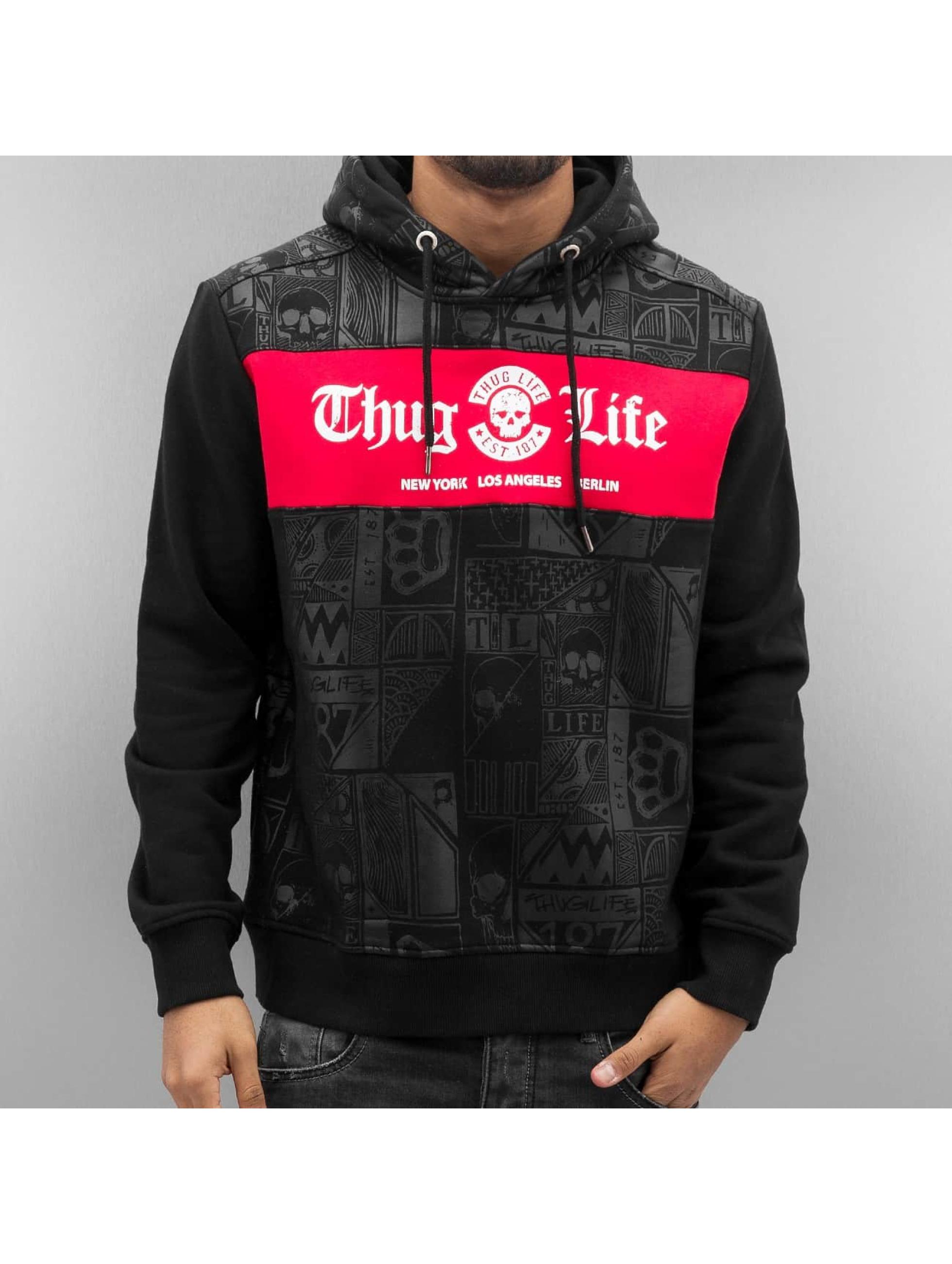 Thug Life Hoody Broon schwarz