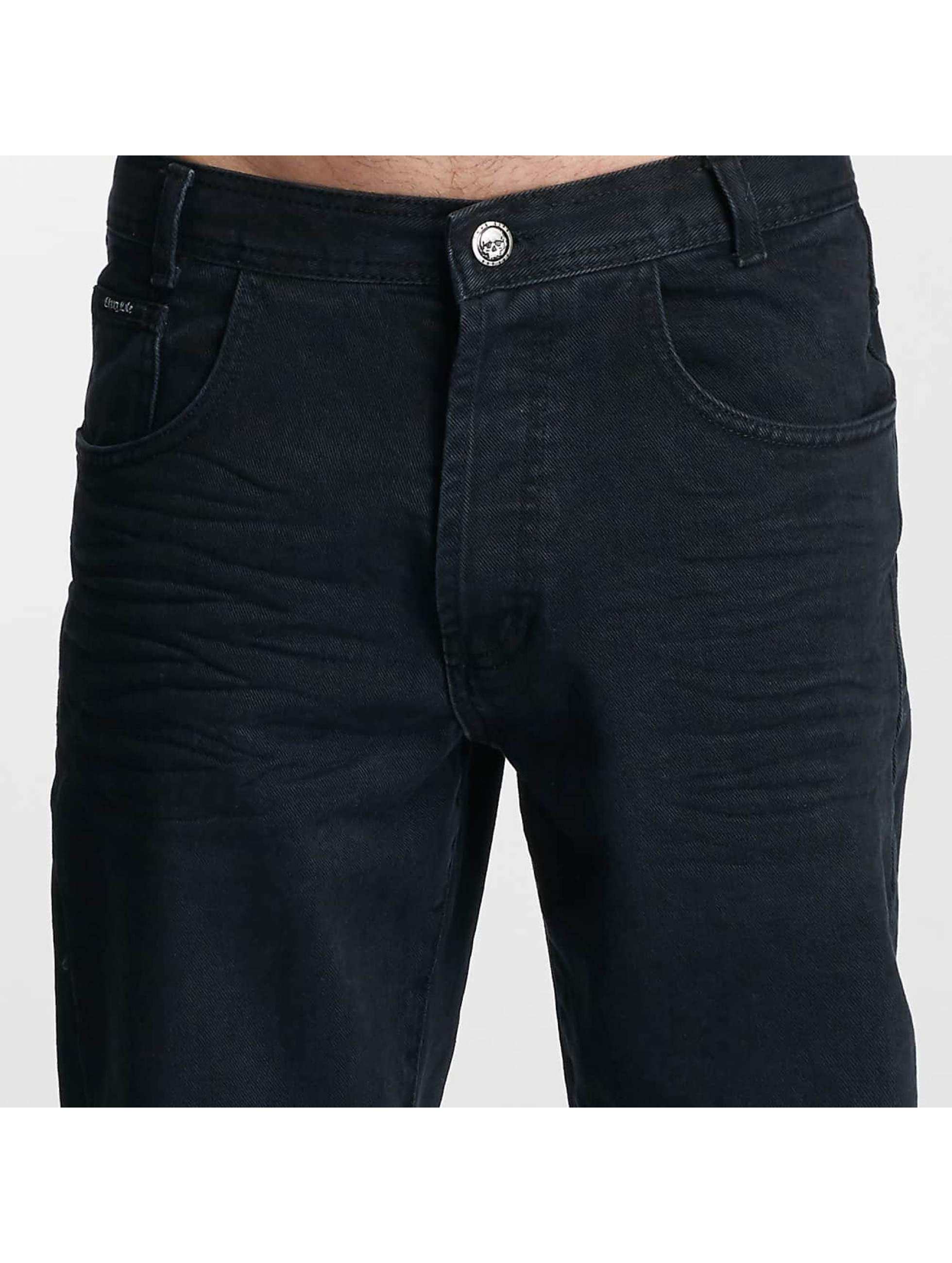 Thug Life Loose Fit Jeans Carrot schwarz