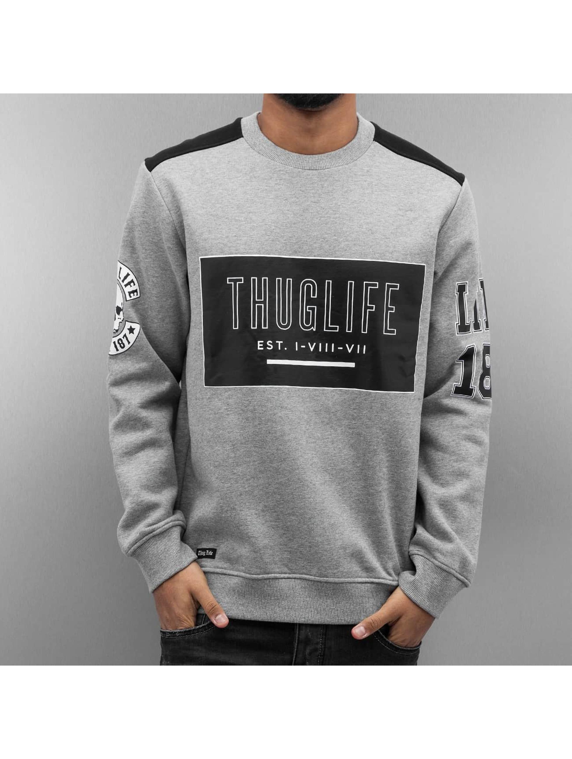 Thug Life Pullover Zoro Digga grau