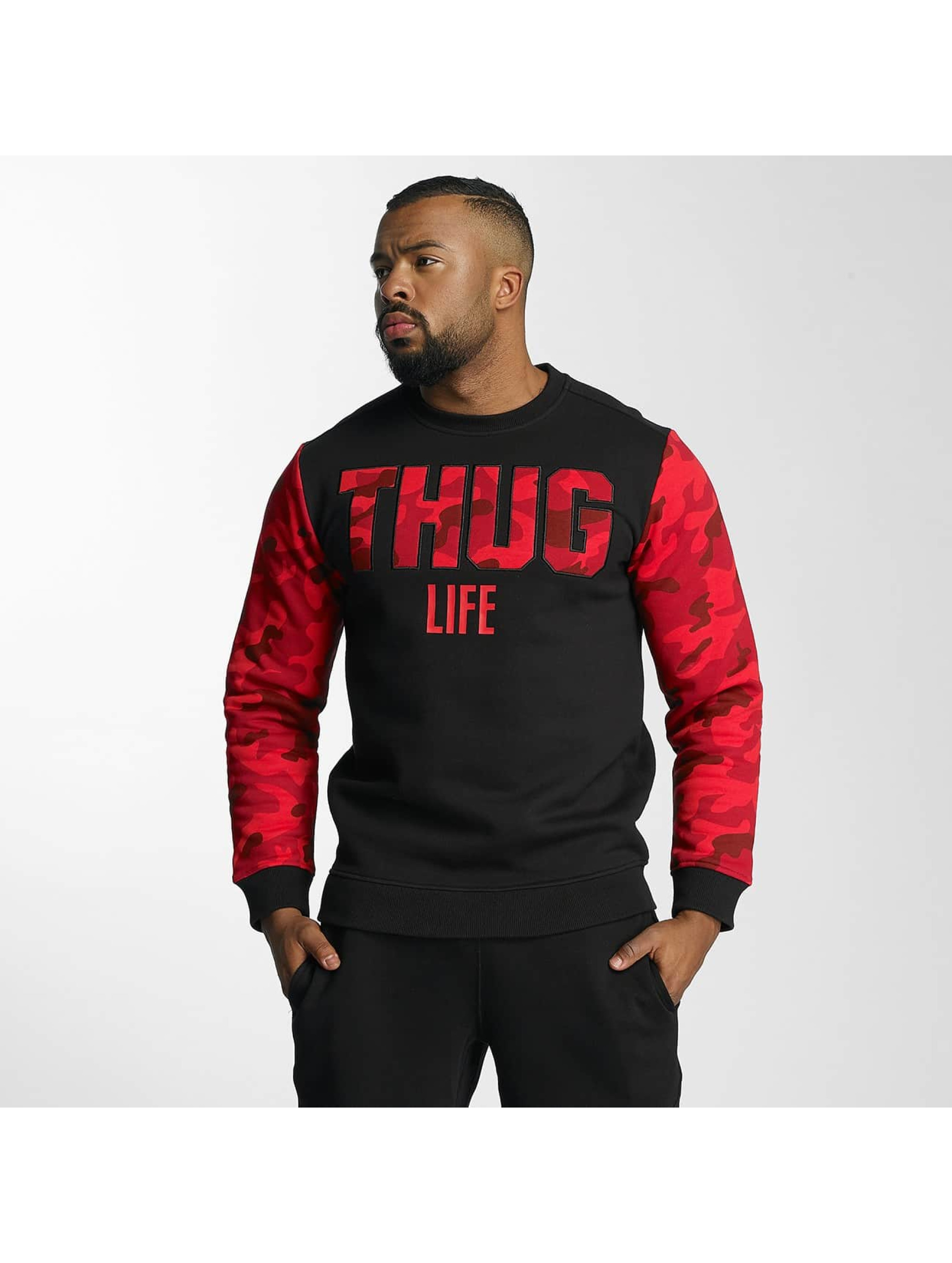 thug life herren pullover zombi in rot 320501. Black Bedroom Furniture Sets. Home Design Ideas