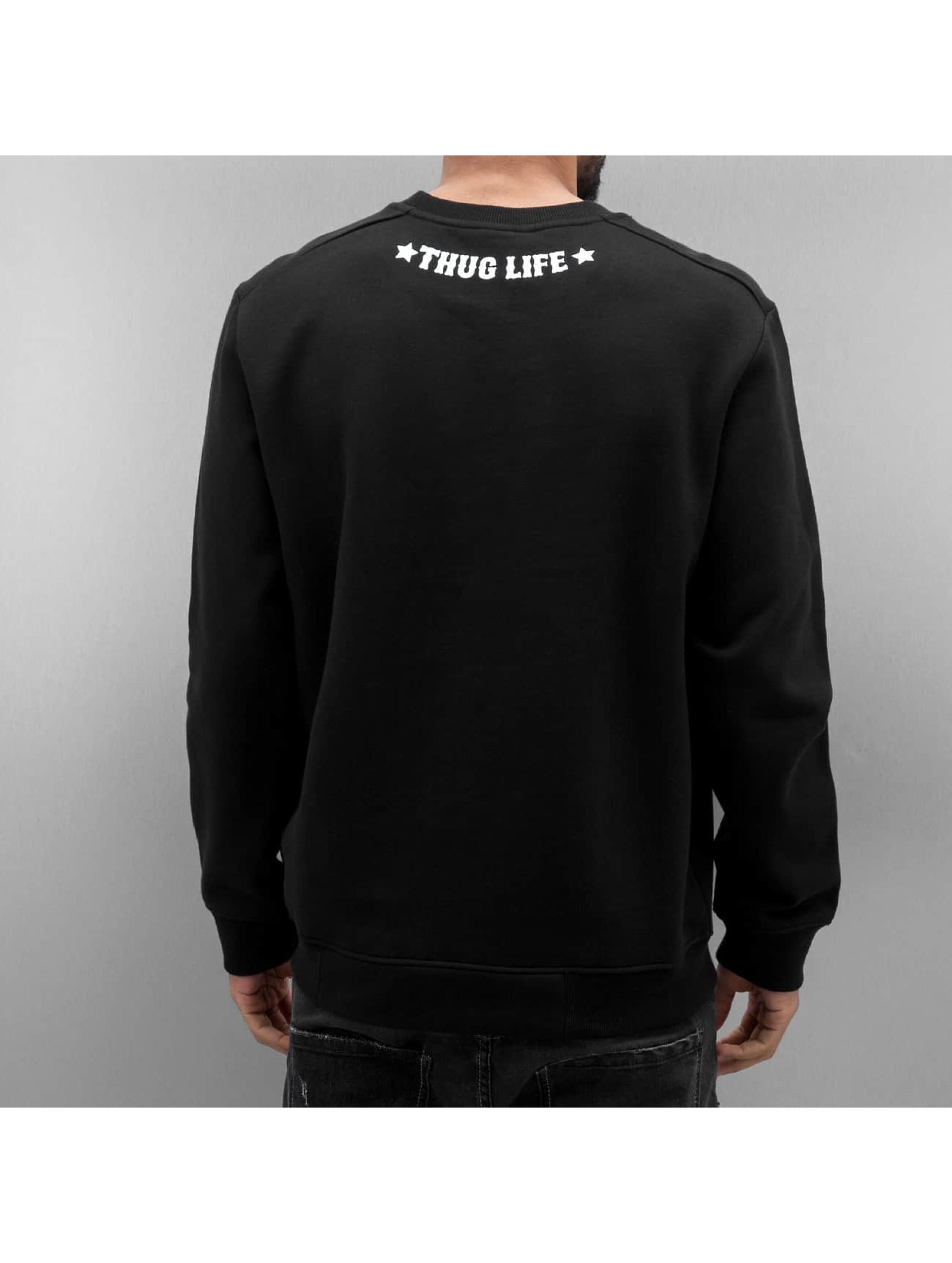 Thug Life Pullover Getosthug schwarz