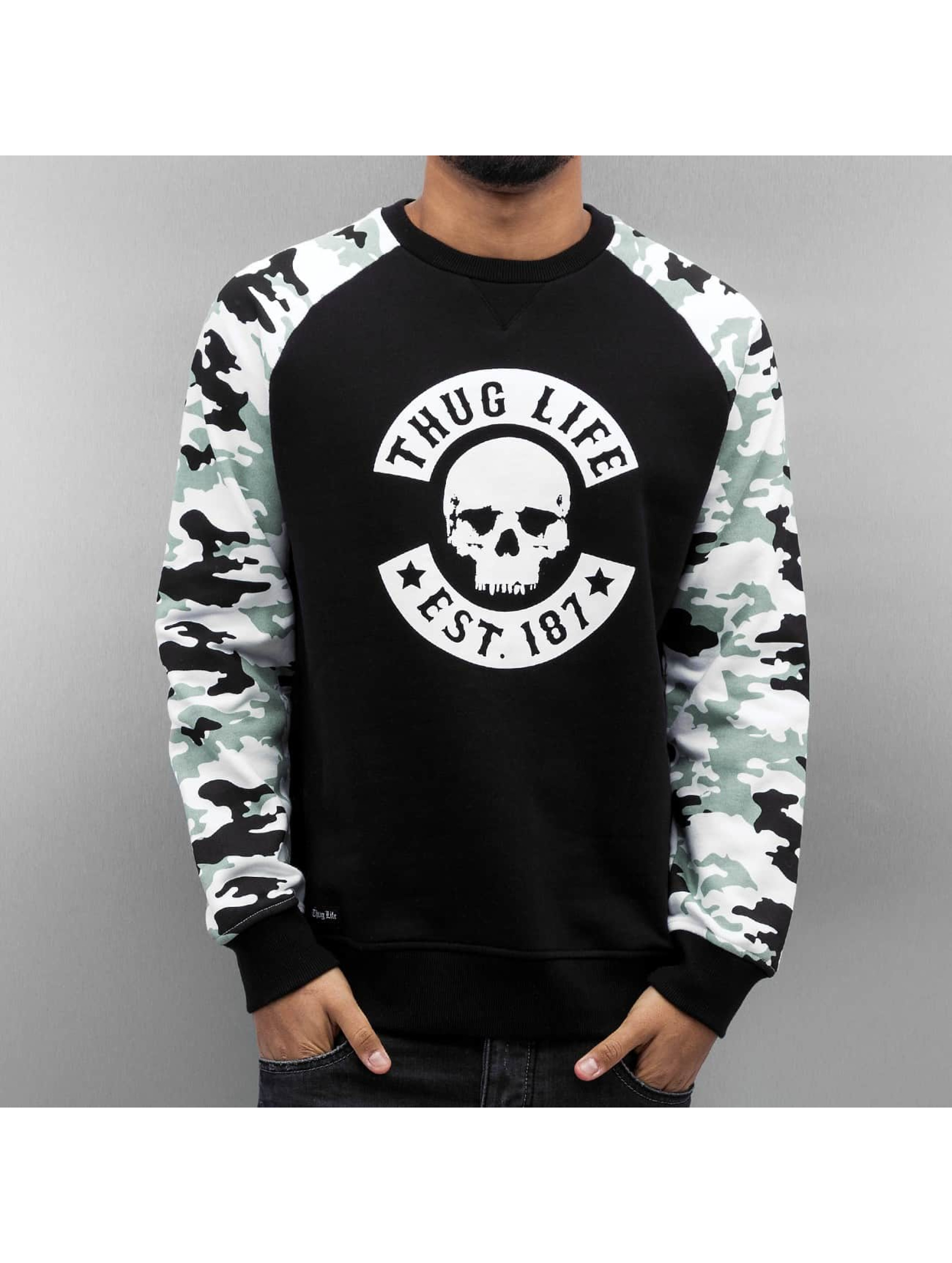 Thug Life Pullover Ragthug schwarz