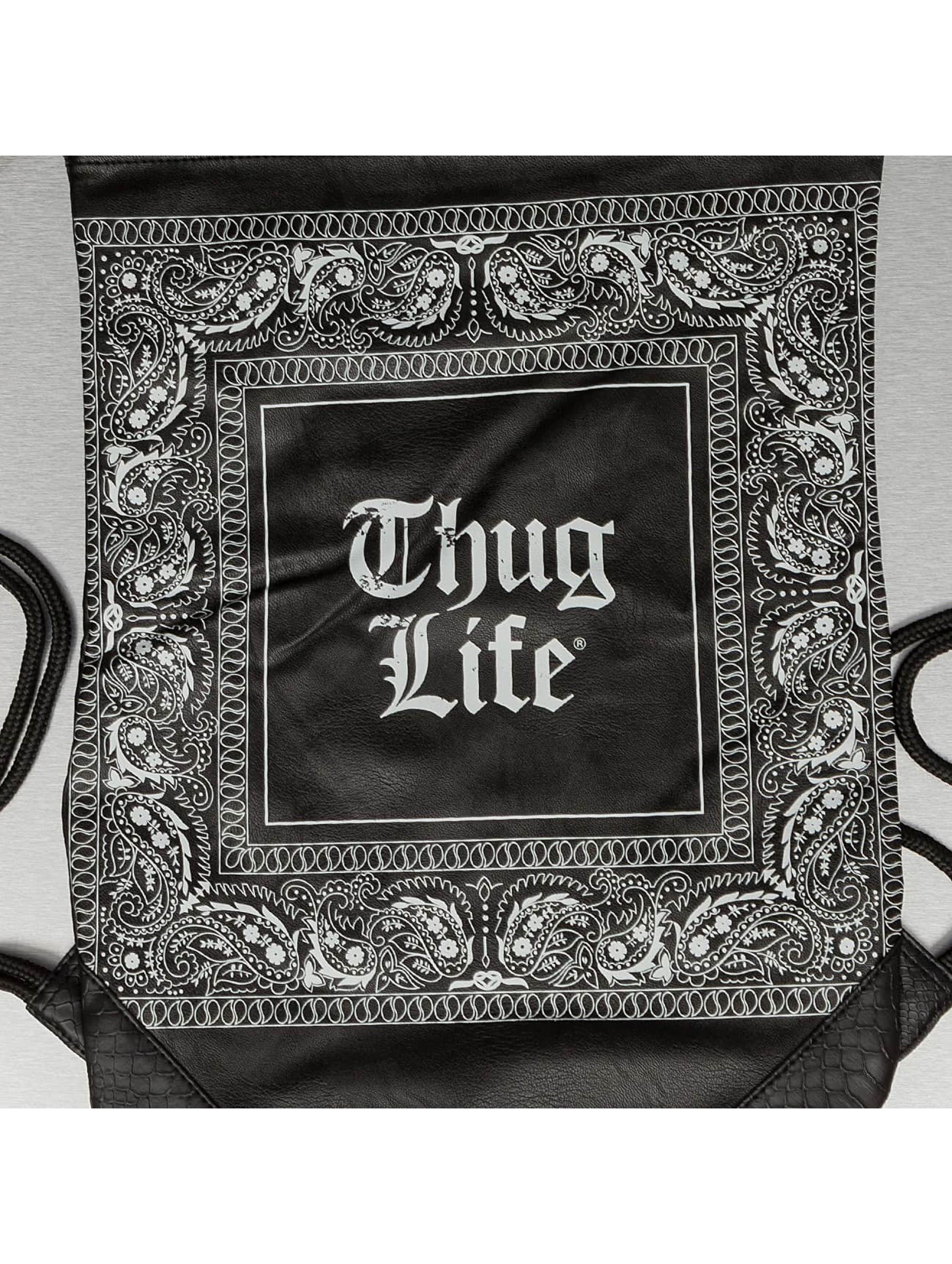 Thug Life Sac à cordons Paisley noir