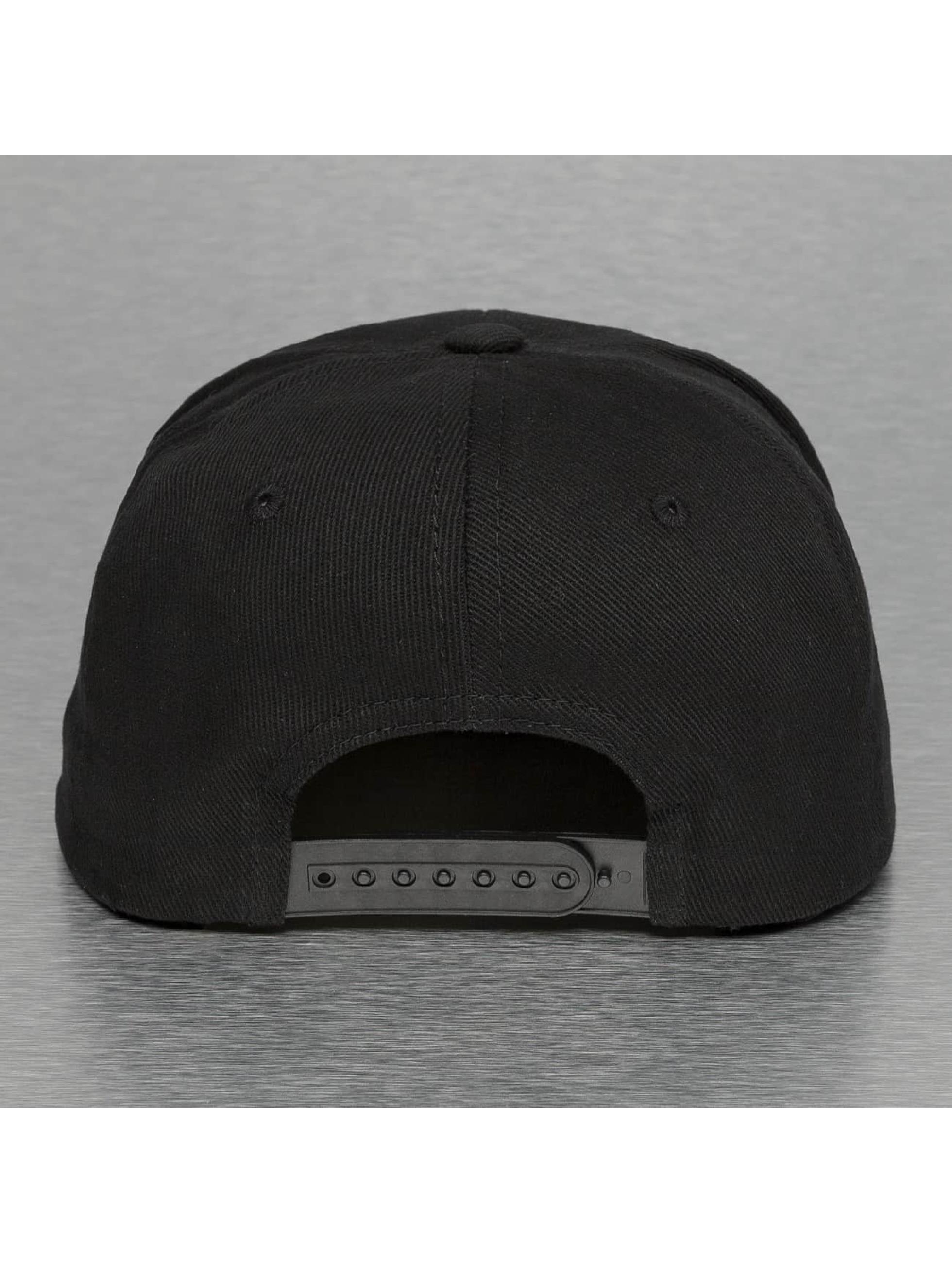 Thug Life Snapback Cap White Logo schwarz