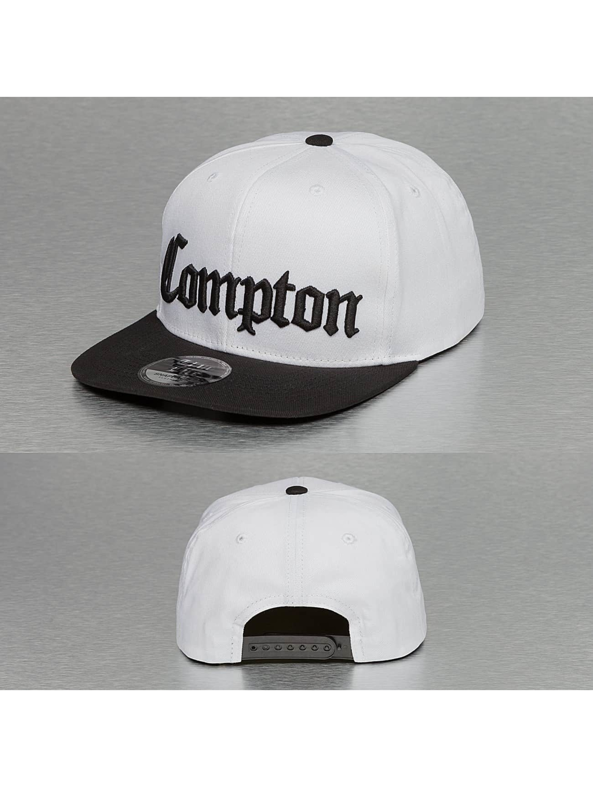 Thug Life Snapback Cap Compton weiß