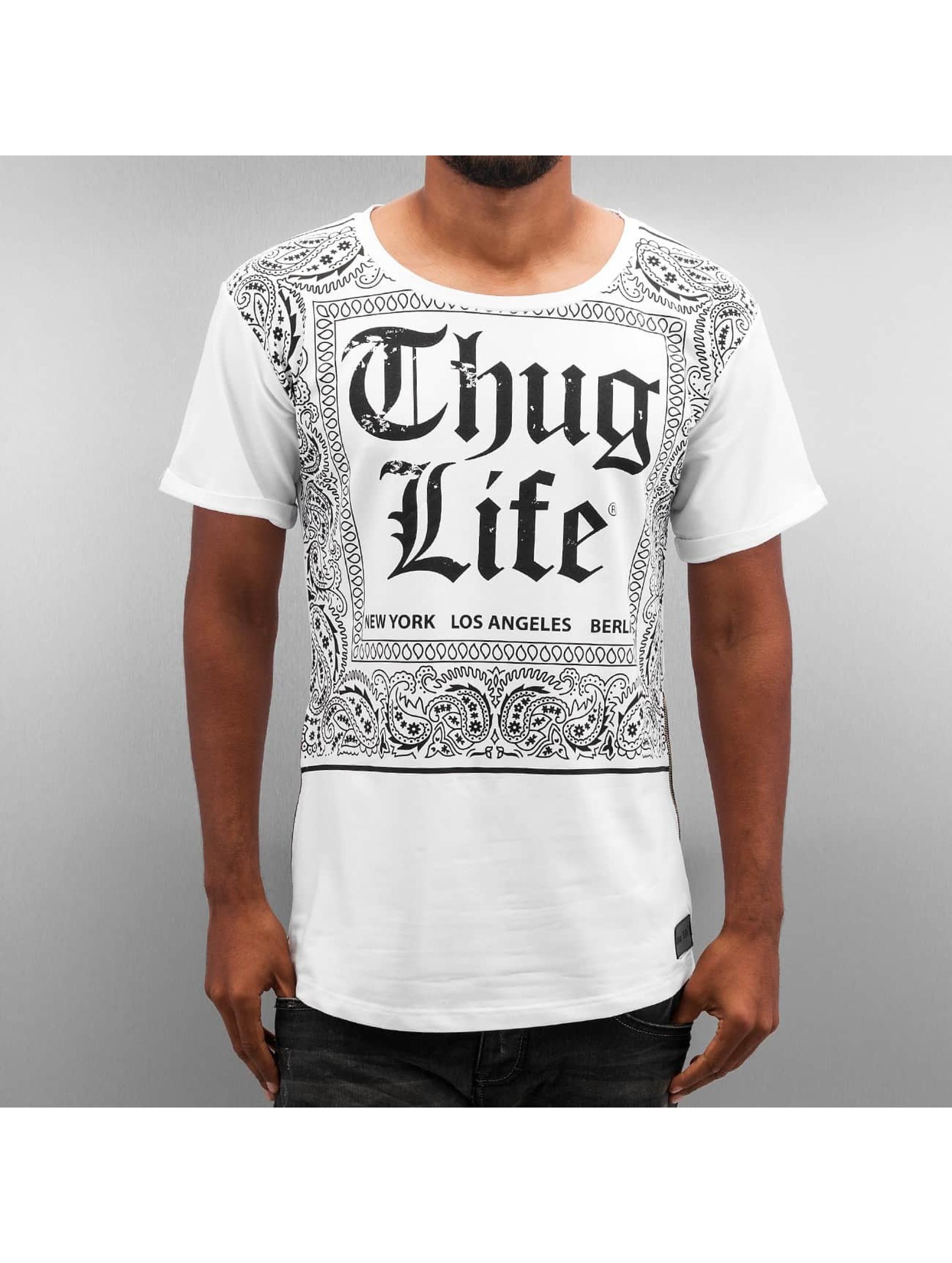 Thug Life T-Shirt Bandana blanc