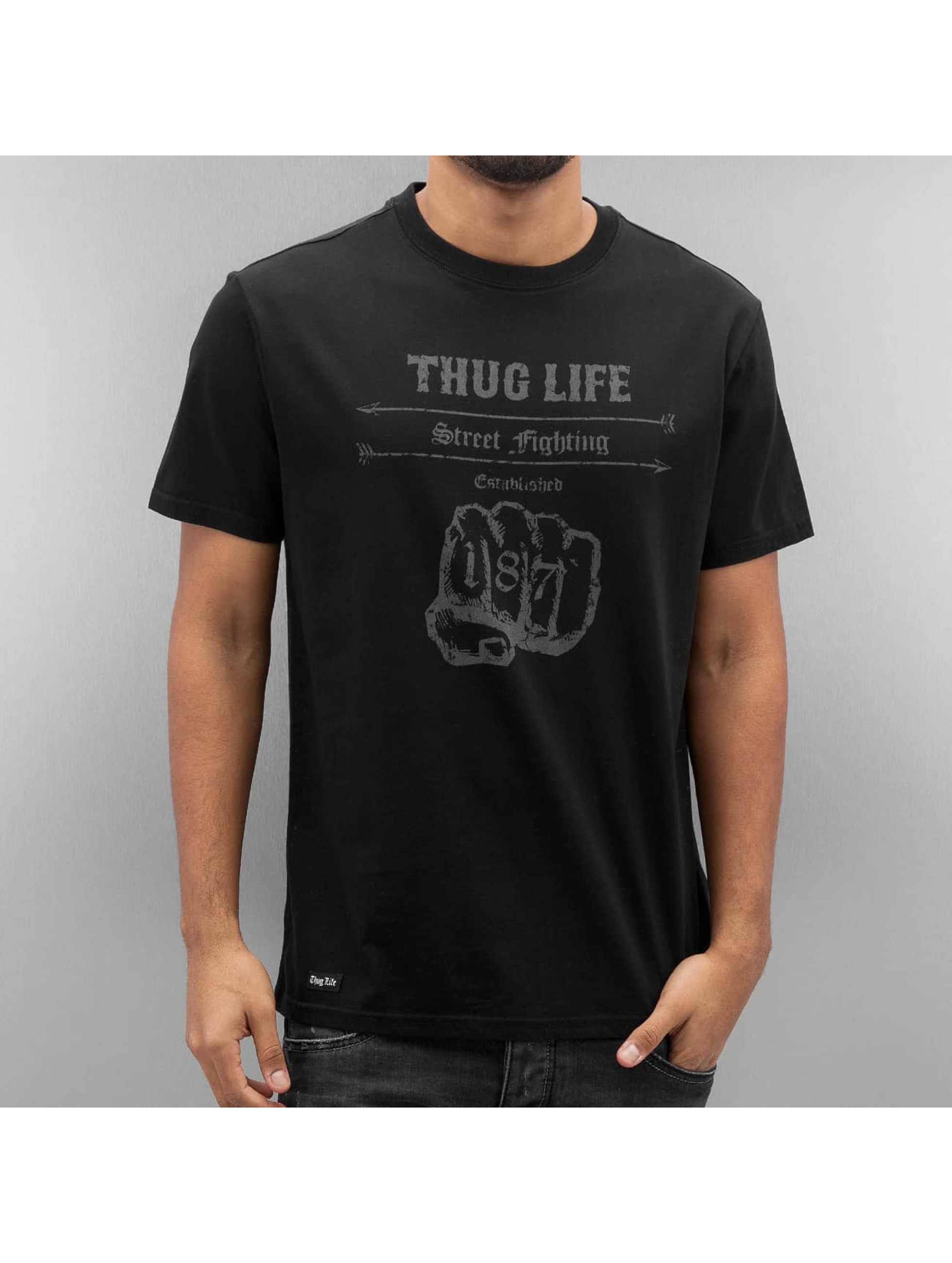 Thug Life T-Shirt Streetfight schwarz