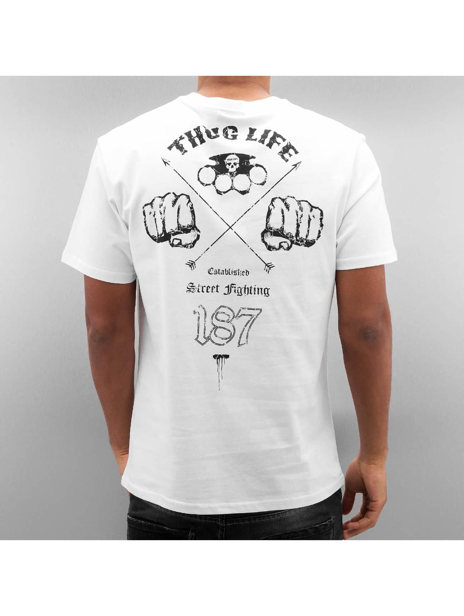 Thug Life T-Shirt Streetfight weiß