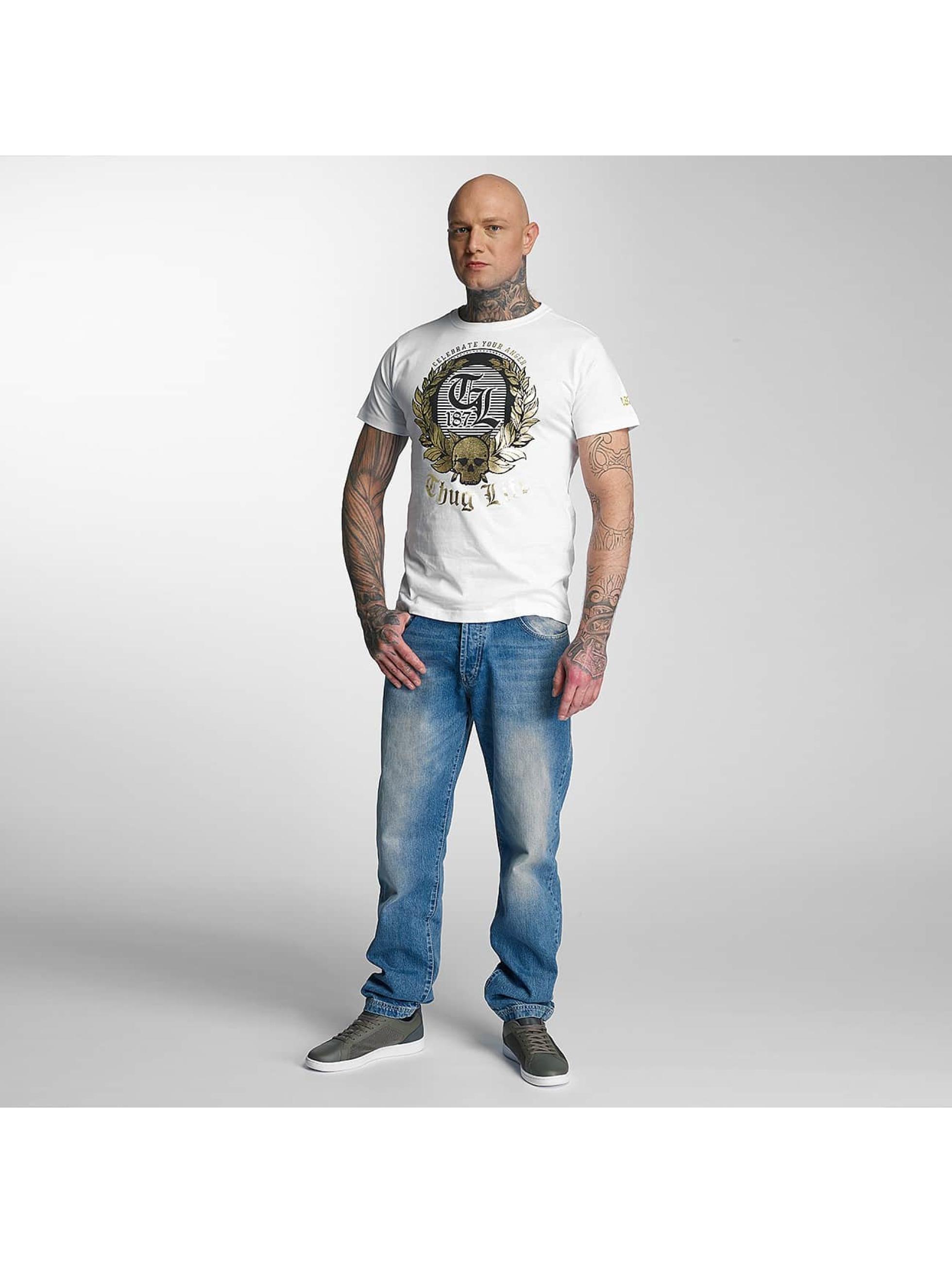 Thug Life T-Shirt Celebrate weiß
