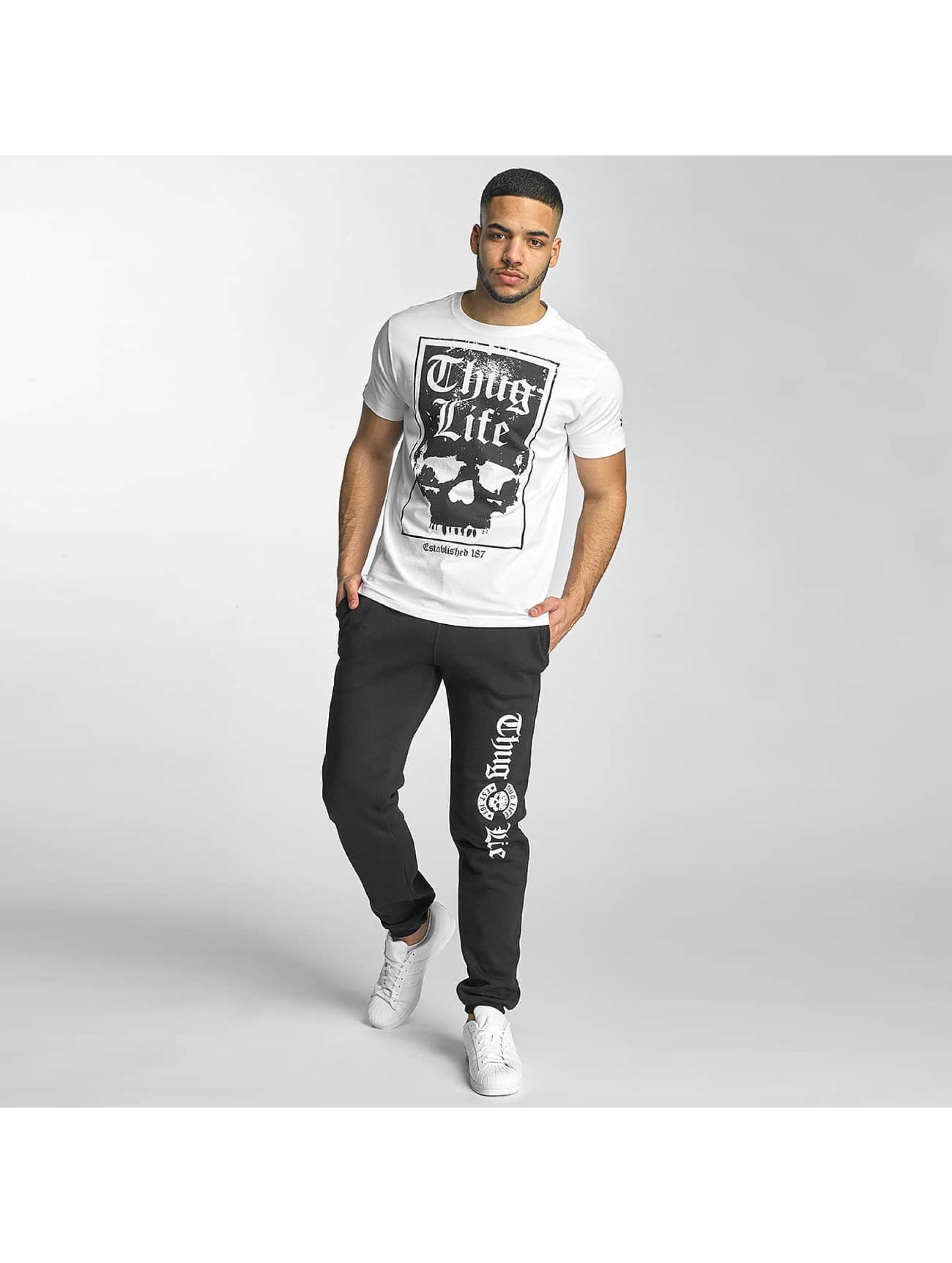 Thug Life T-Shirt Established 187 weiß