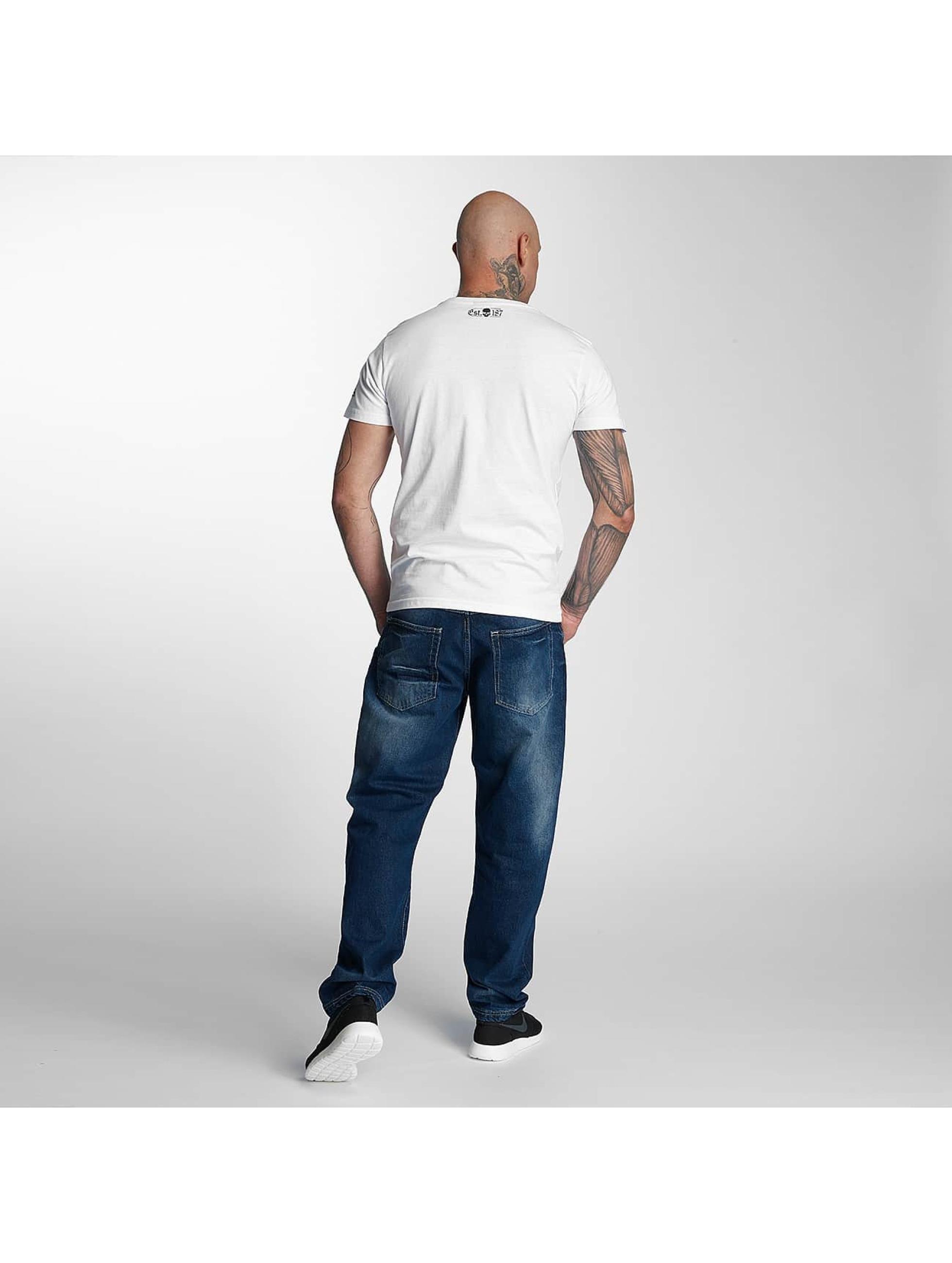 Thug Life T-Shirt Kursiv white