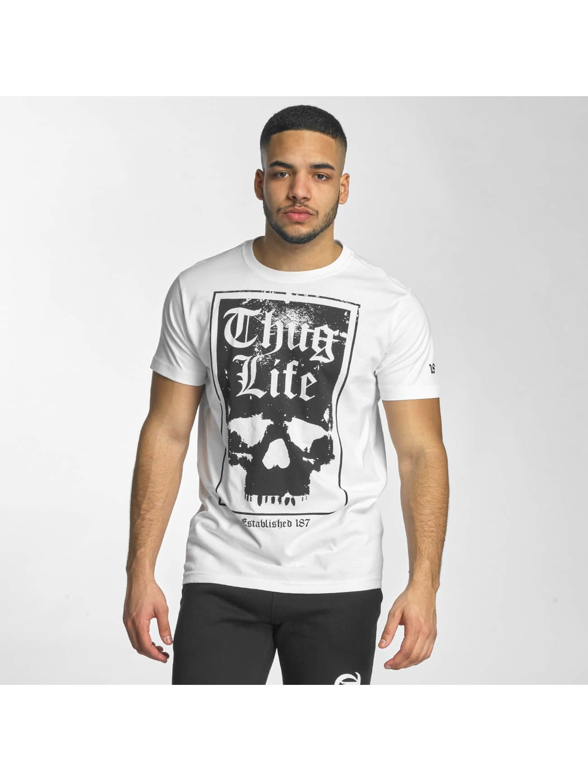 Thug Life T-Shirt Established 187 white