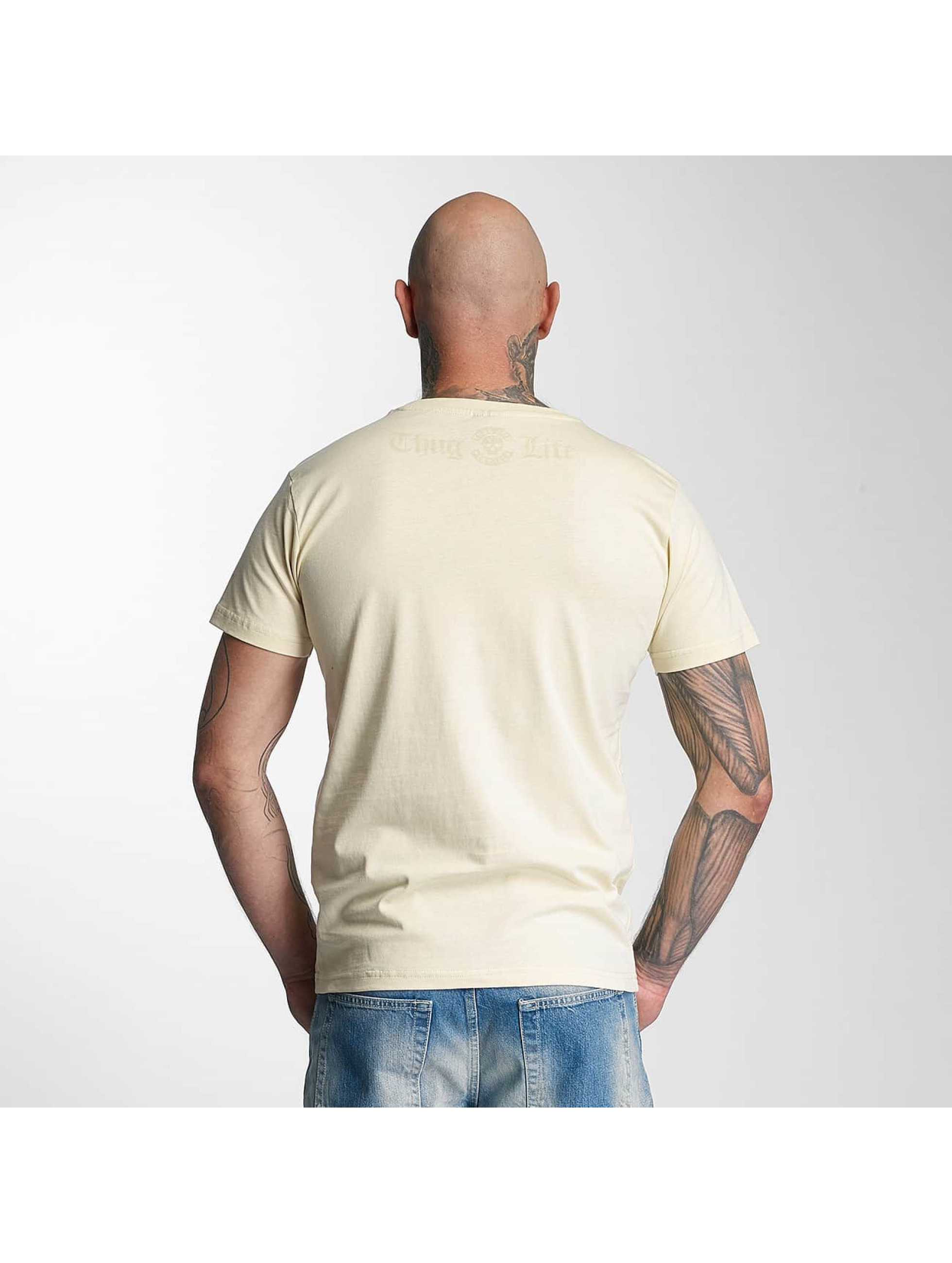 Thug Life T-Shirty Skull bezowy