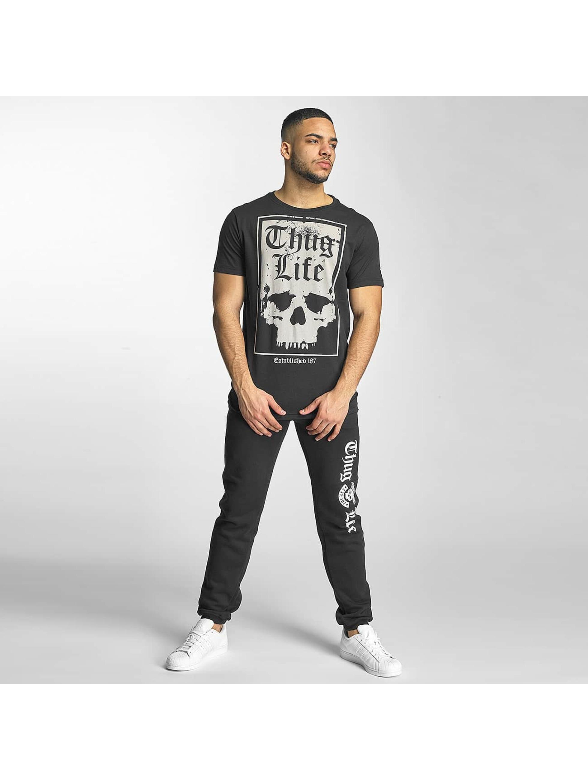 Thug Life T-Shirty Established 187 czarny