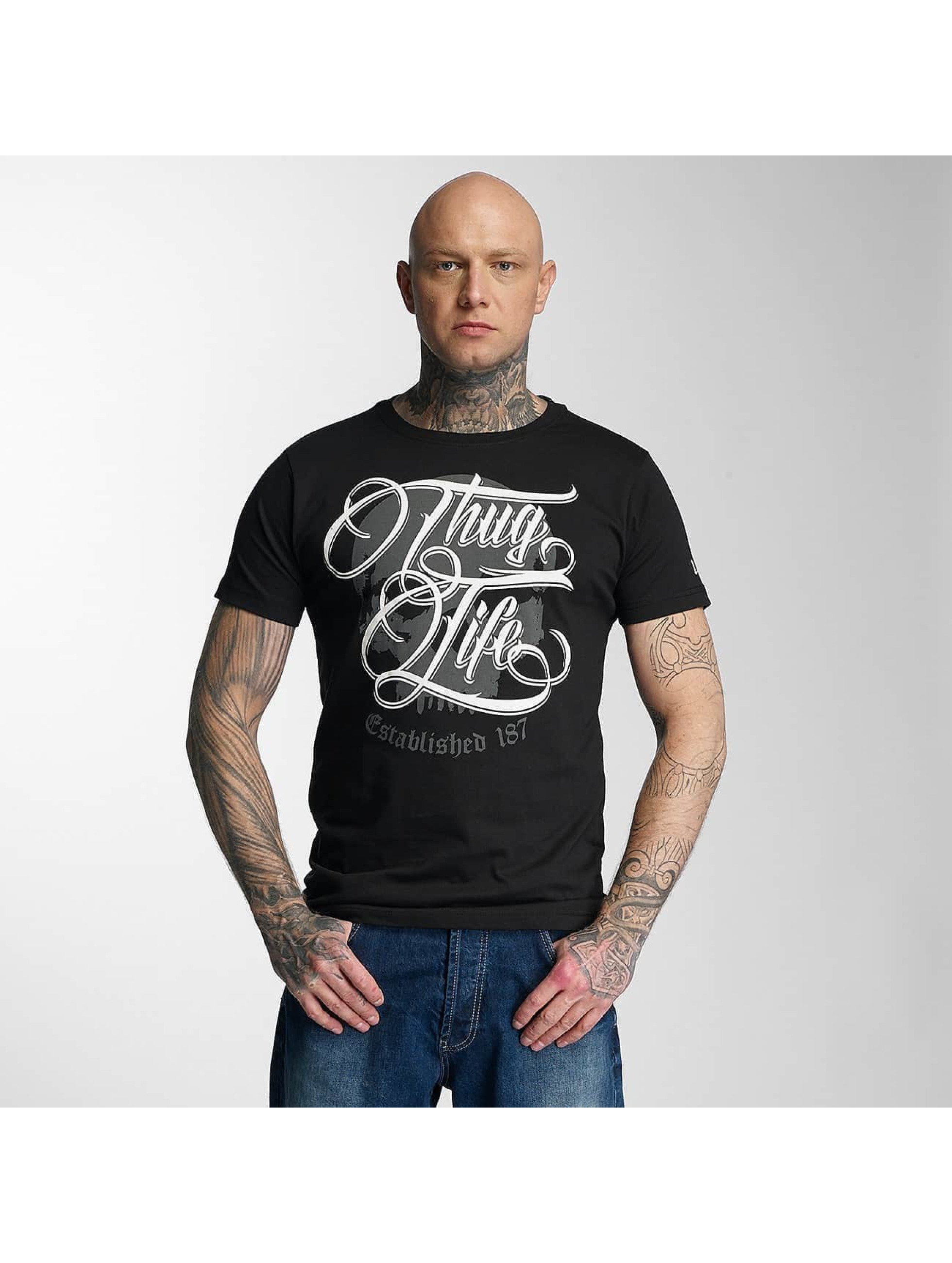 Thug Life T-Shirty 187 czarny