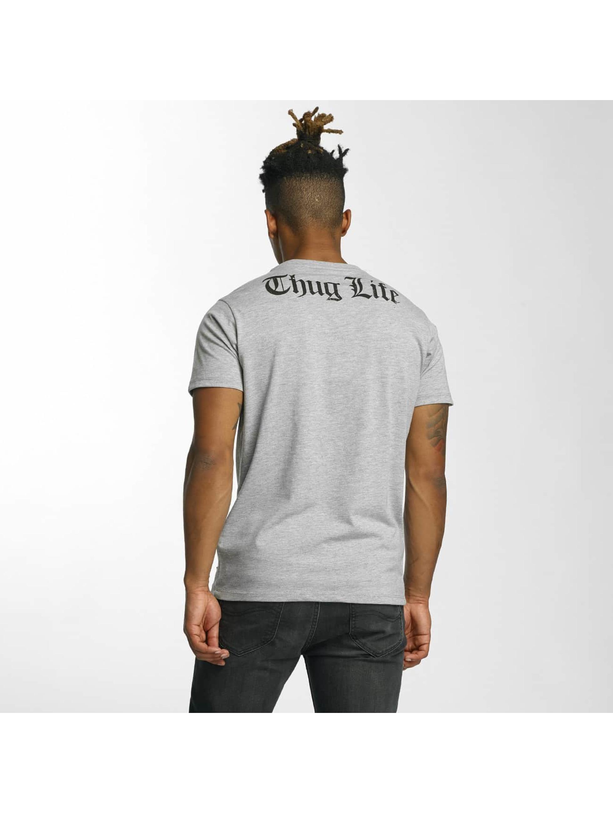 Thug Life T-Shirty Barley szary