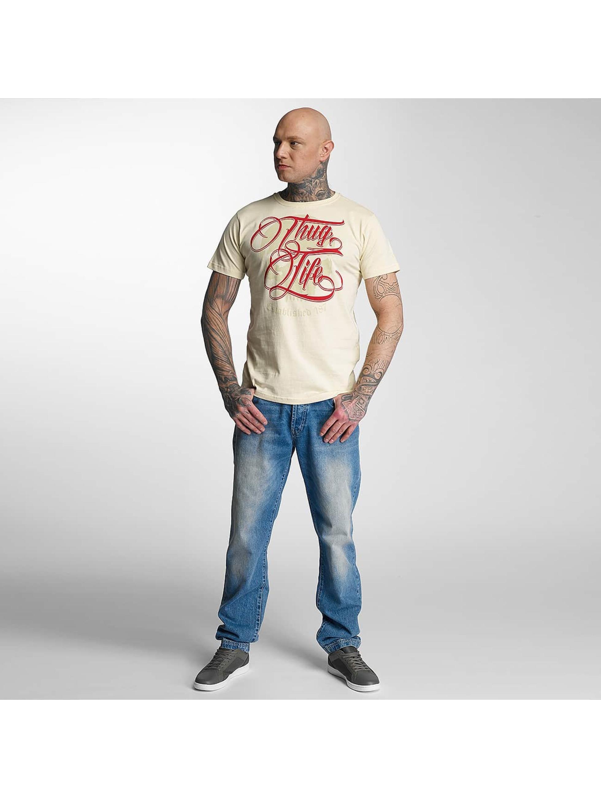 Thug Life T-skjorter Skull beige
