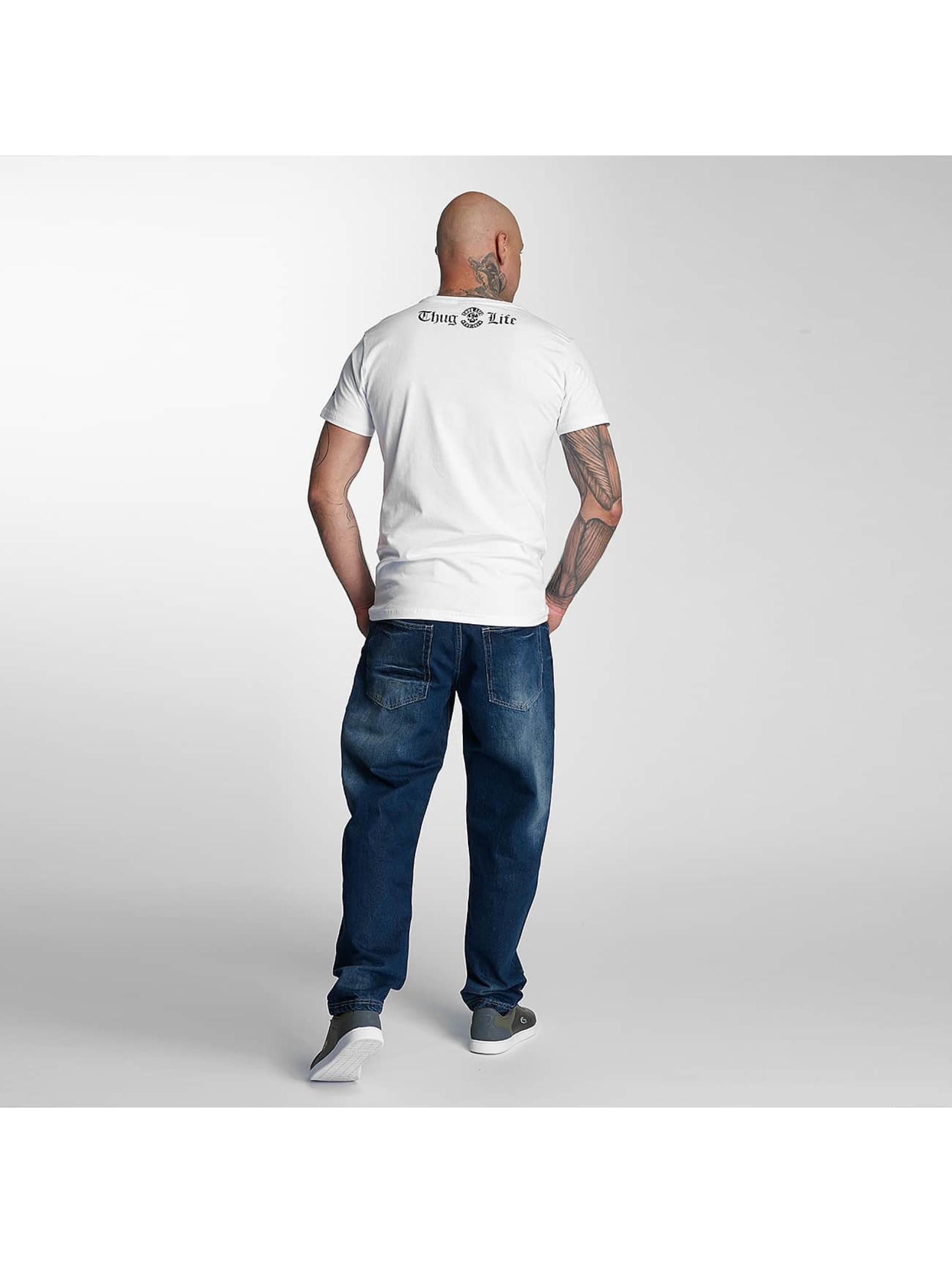 Thug Life T-skjorter no reason hvit