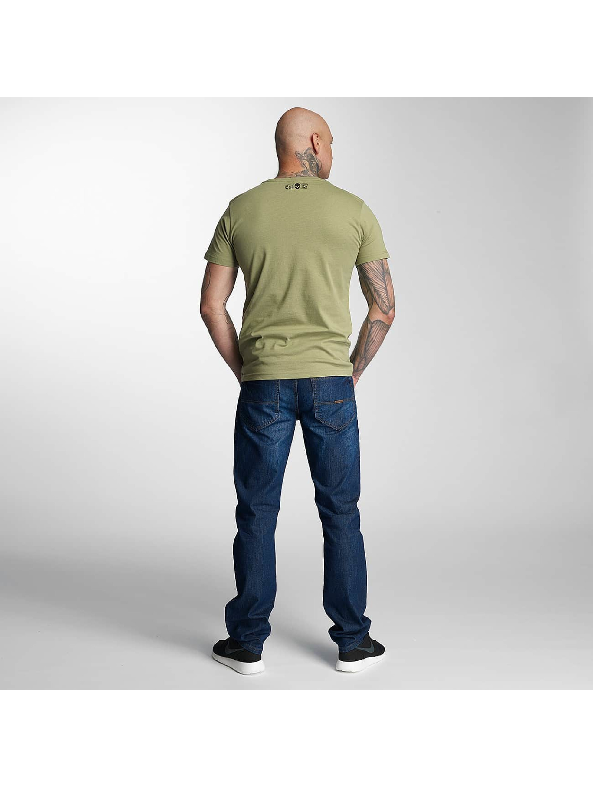 Thug Life T-skjorter Kursiv oliven