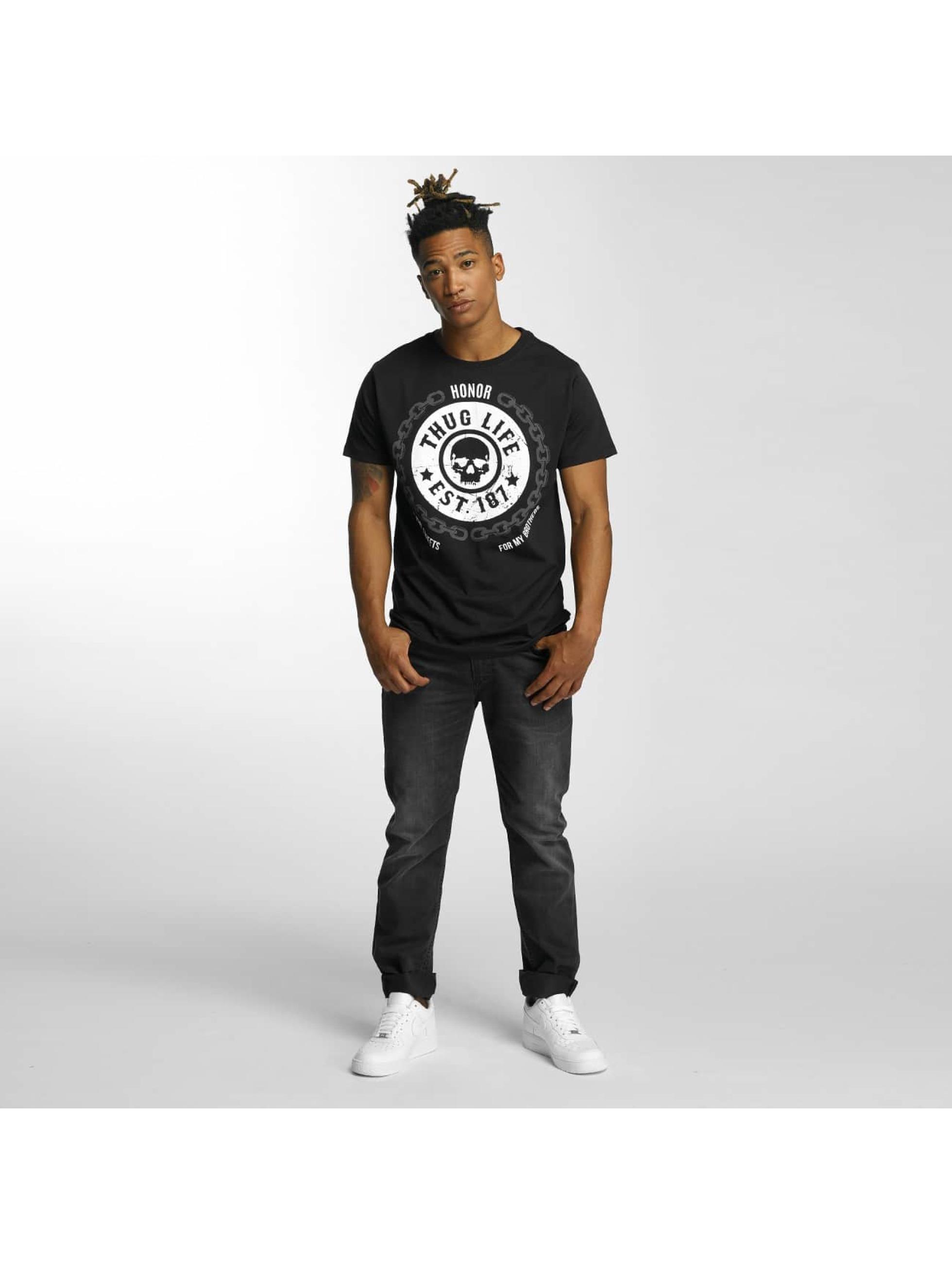 Thug Life T-skjorter Barley svart