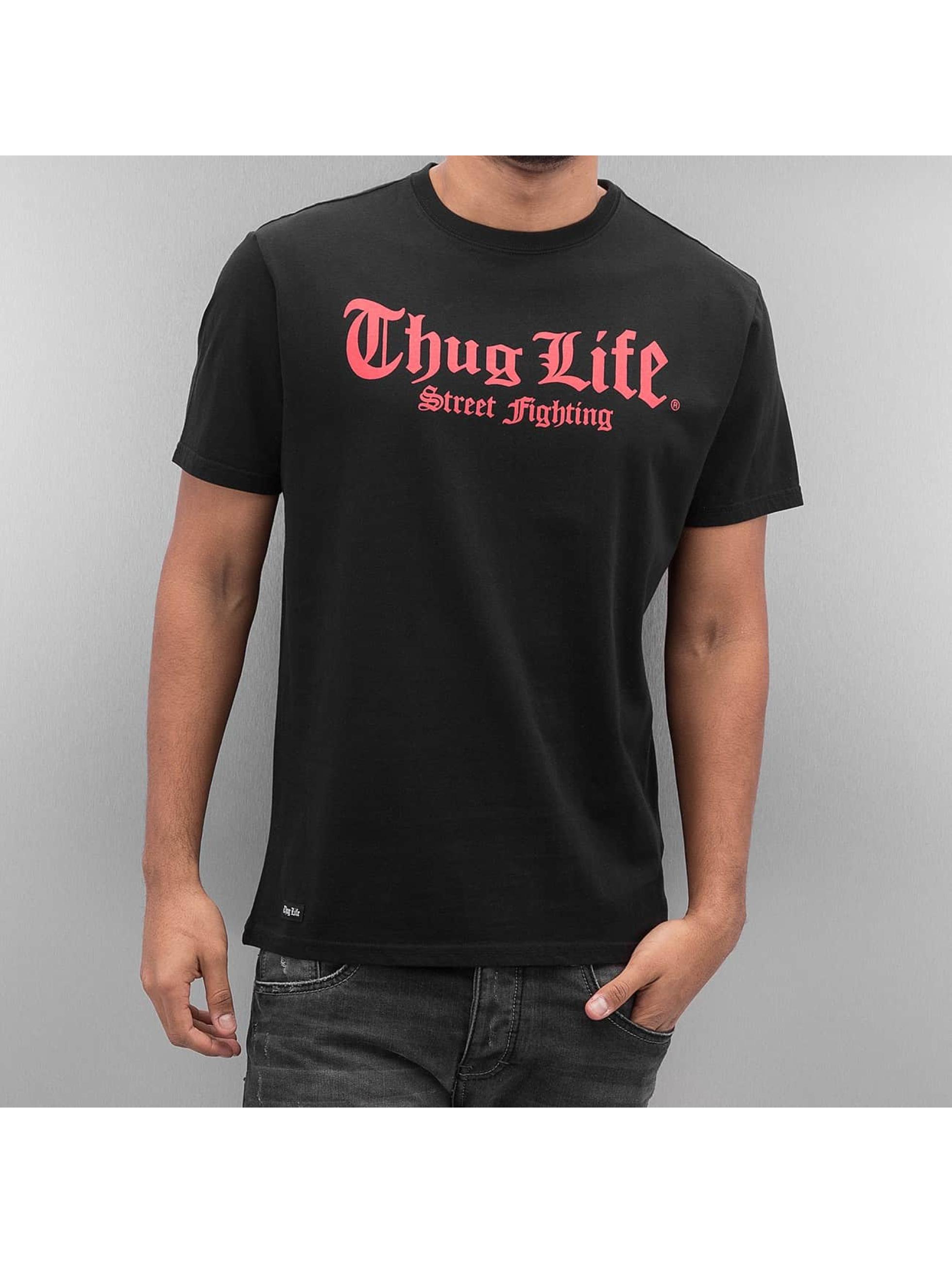 Thug Life Tričká Deadmood èierna