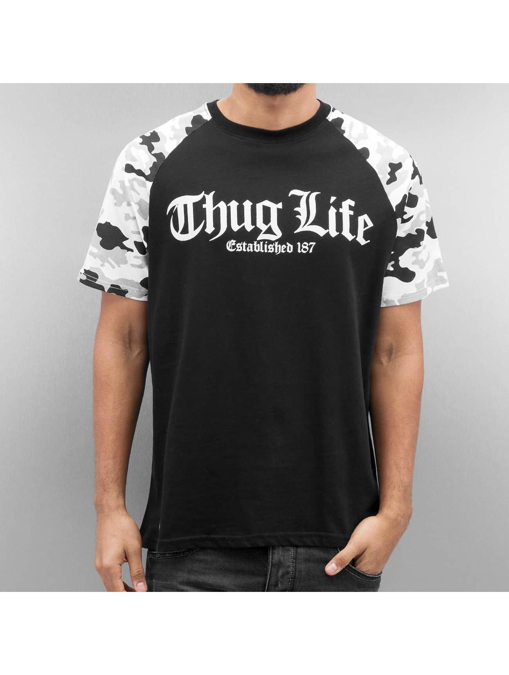 Thug Life Tričká Deadknight èierna