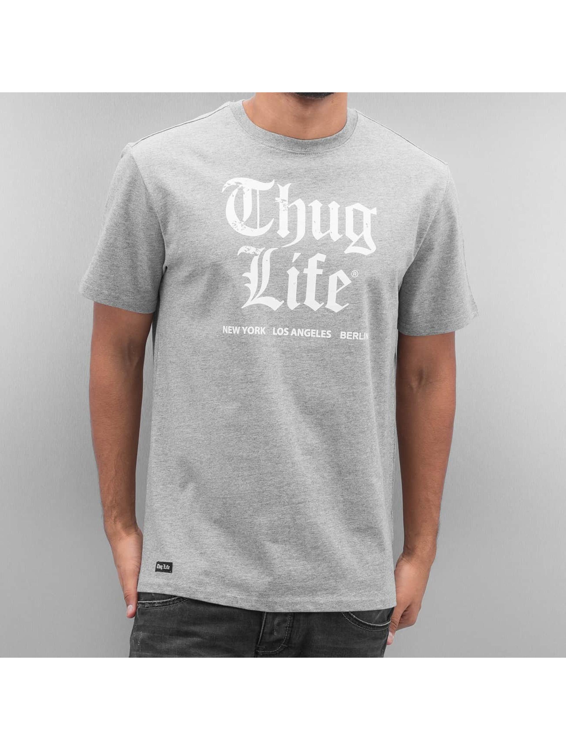 Thug Life Tričká Deadking šedá