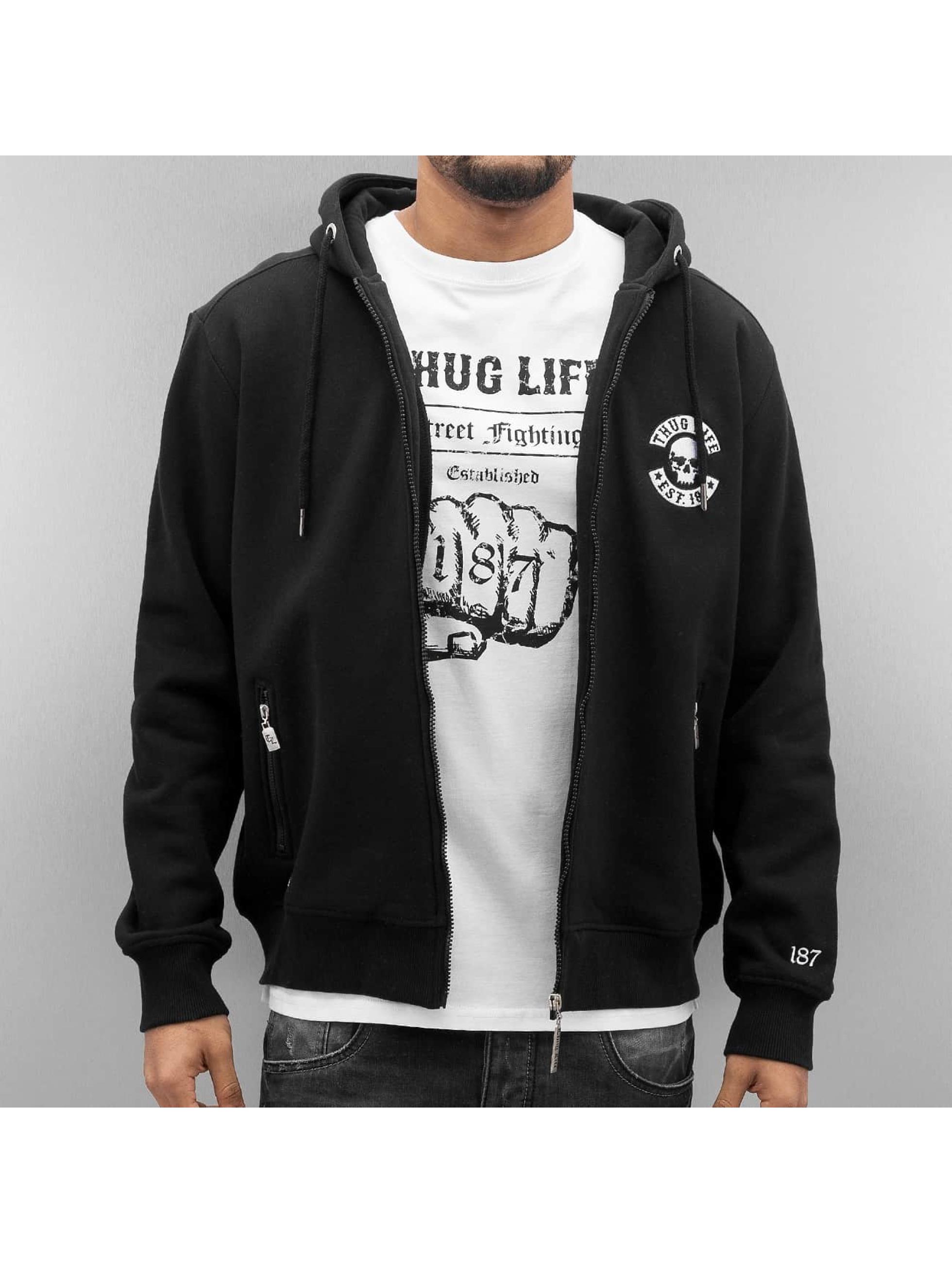 Thug Life Zip Hoodie Base Est èierna