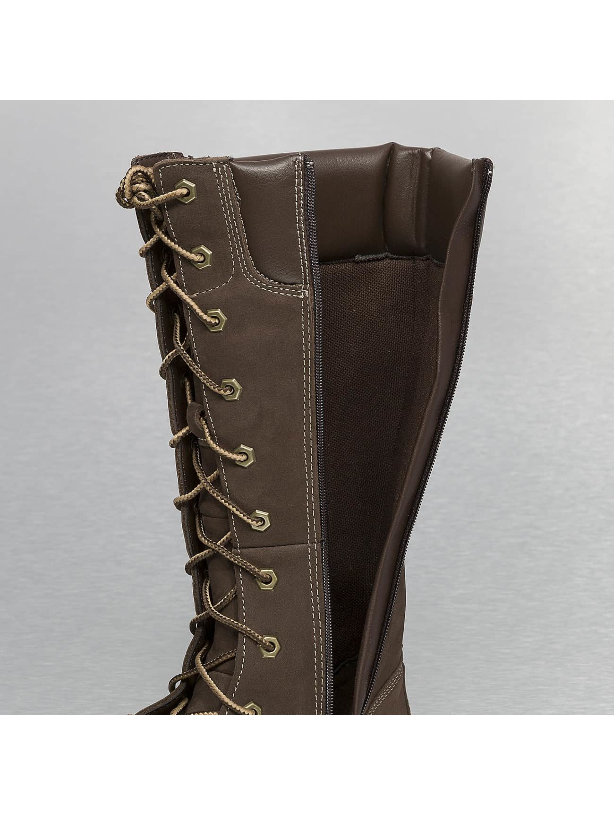 Timberland Bottes Asphalt Trail Classic Tall Lace-Up brun
