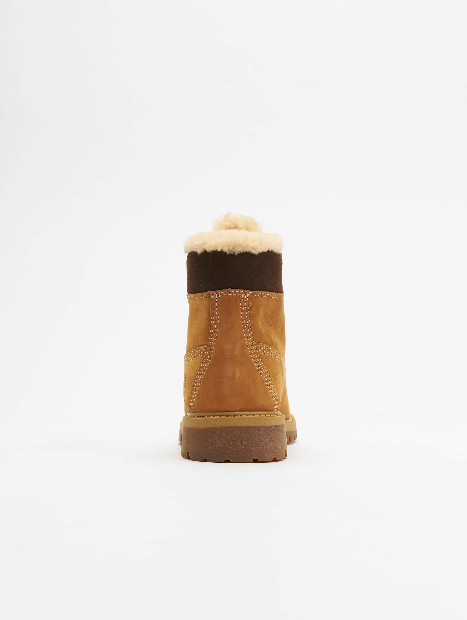 Timberland Kängor 6 In Premium Waterproof Shearling Lined beige