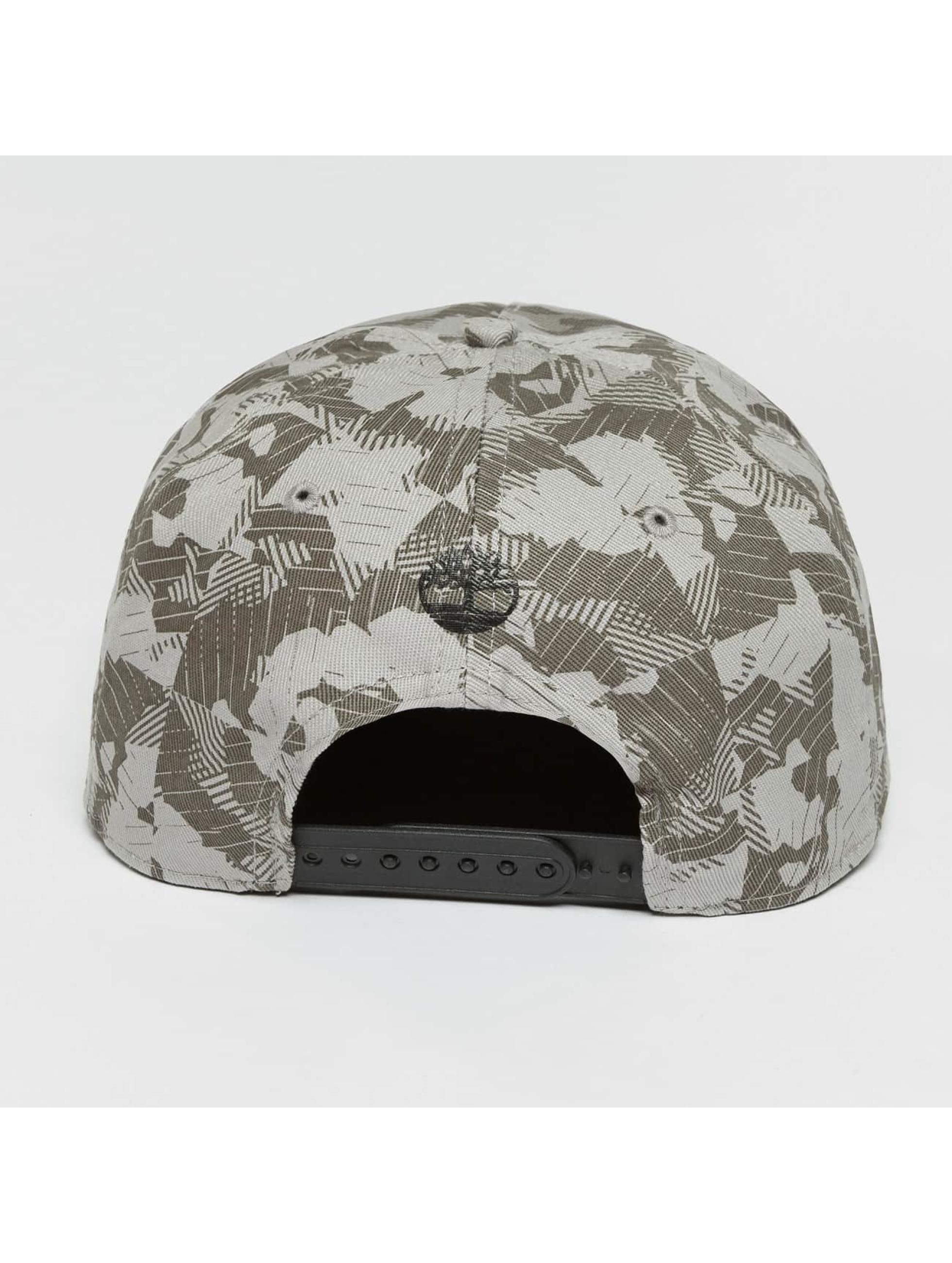 Timberland Snapback Cap Large Logo Camo grau