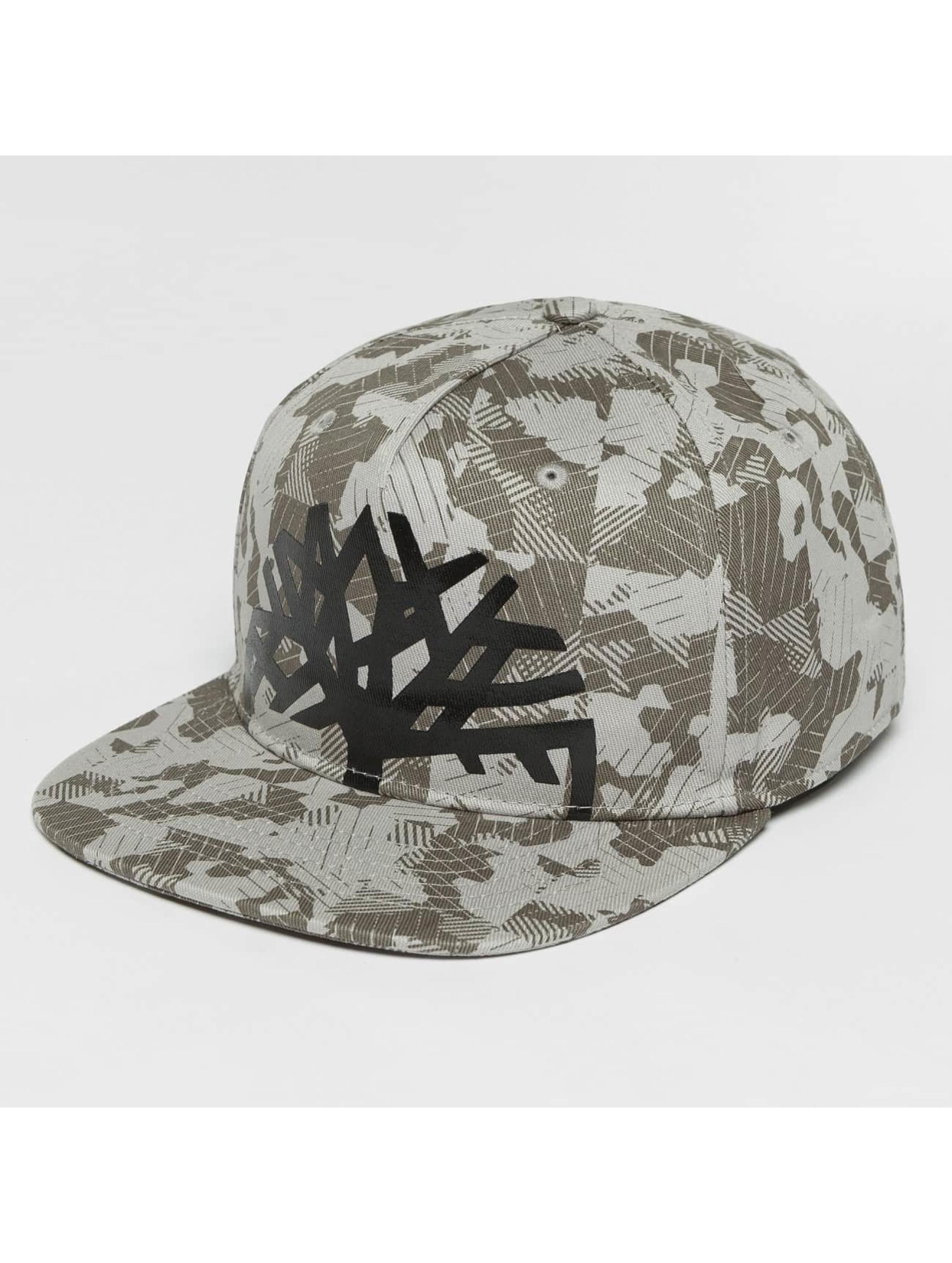 Timberland snapback cap Large Logo Camo grijs