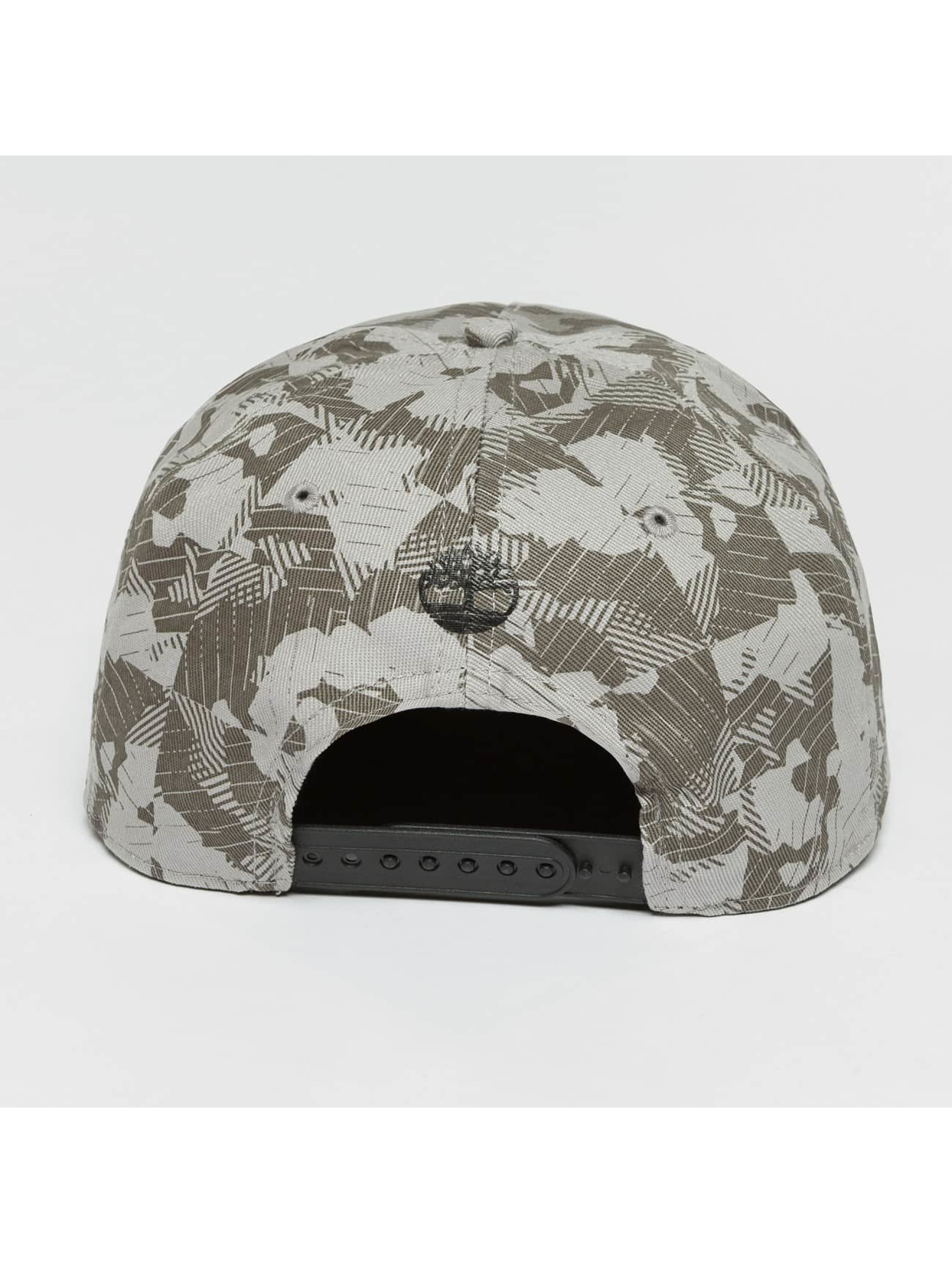 Timberland Snapback Caps Large Logo Camo szary