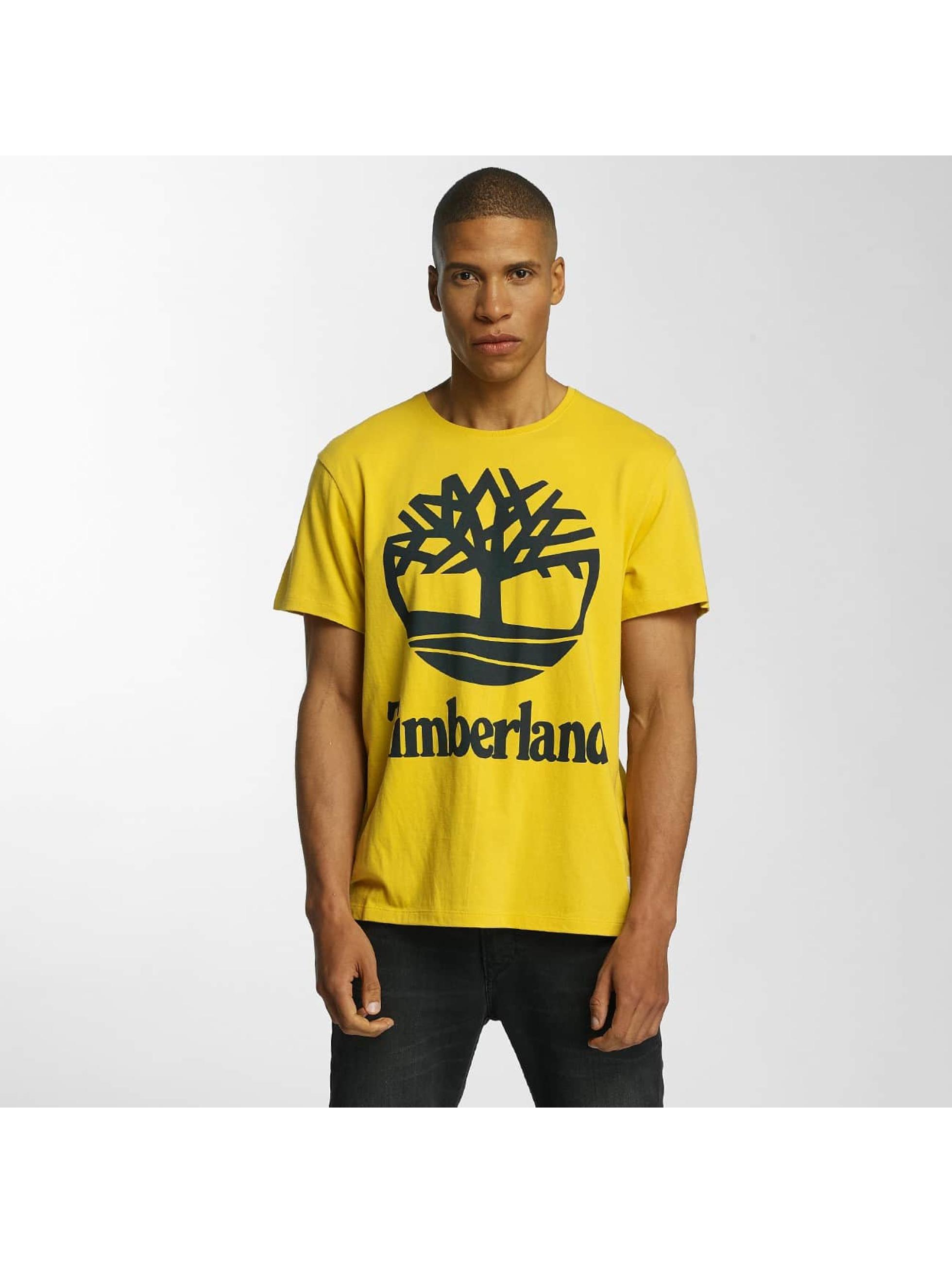 Timberland T-Shirt Big Logo jaune
