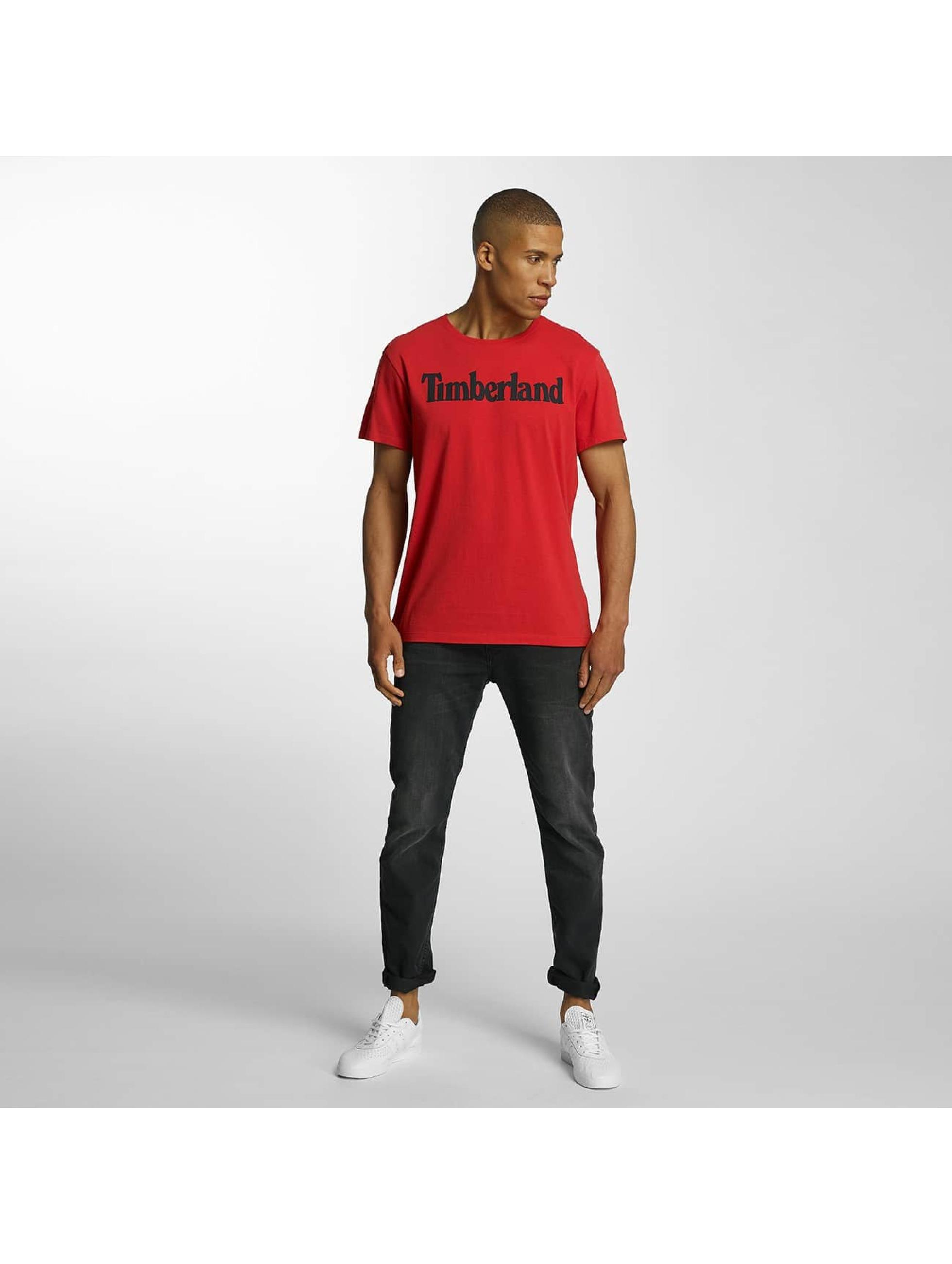 Timberland T-Shirty Lin Logo czerwony