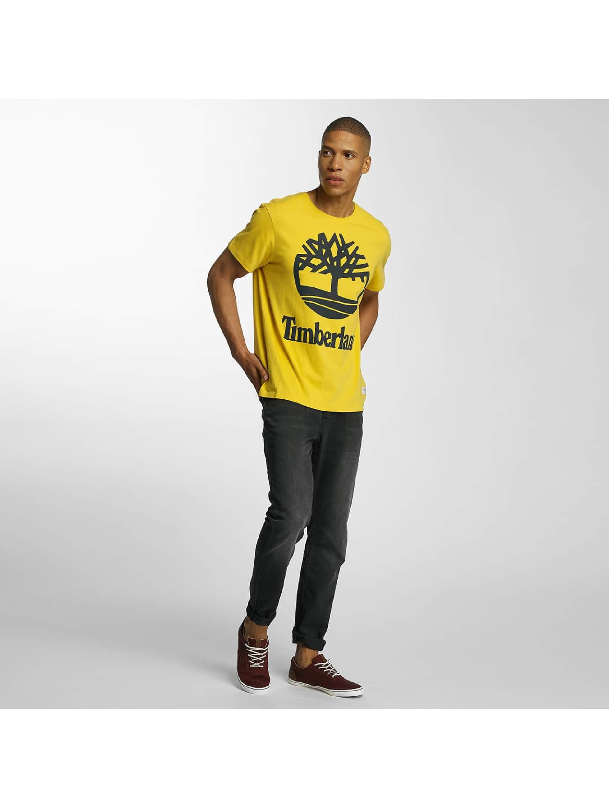 Timberland T-Shirty Big Logo zólty