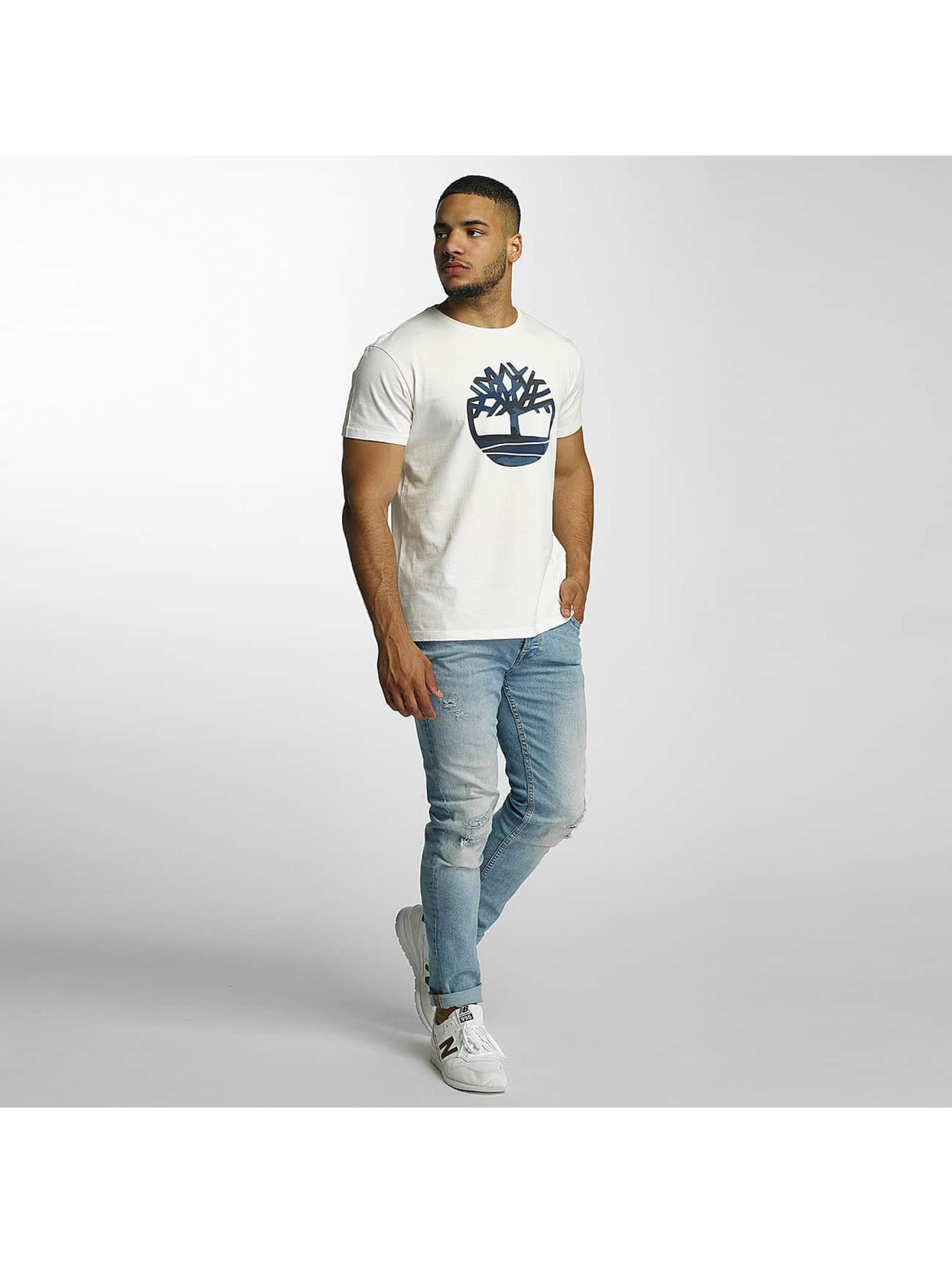 Timberland T-skjorter Dustan River Camo Print Brand hvit