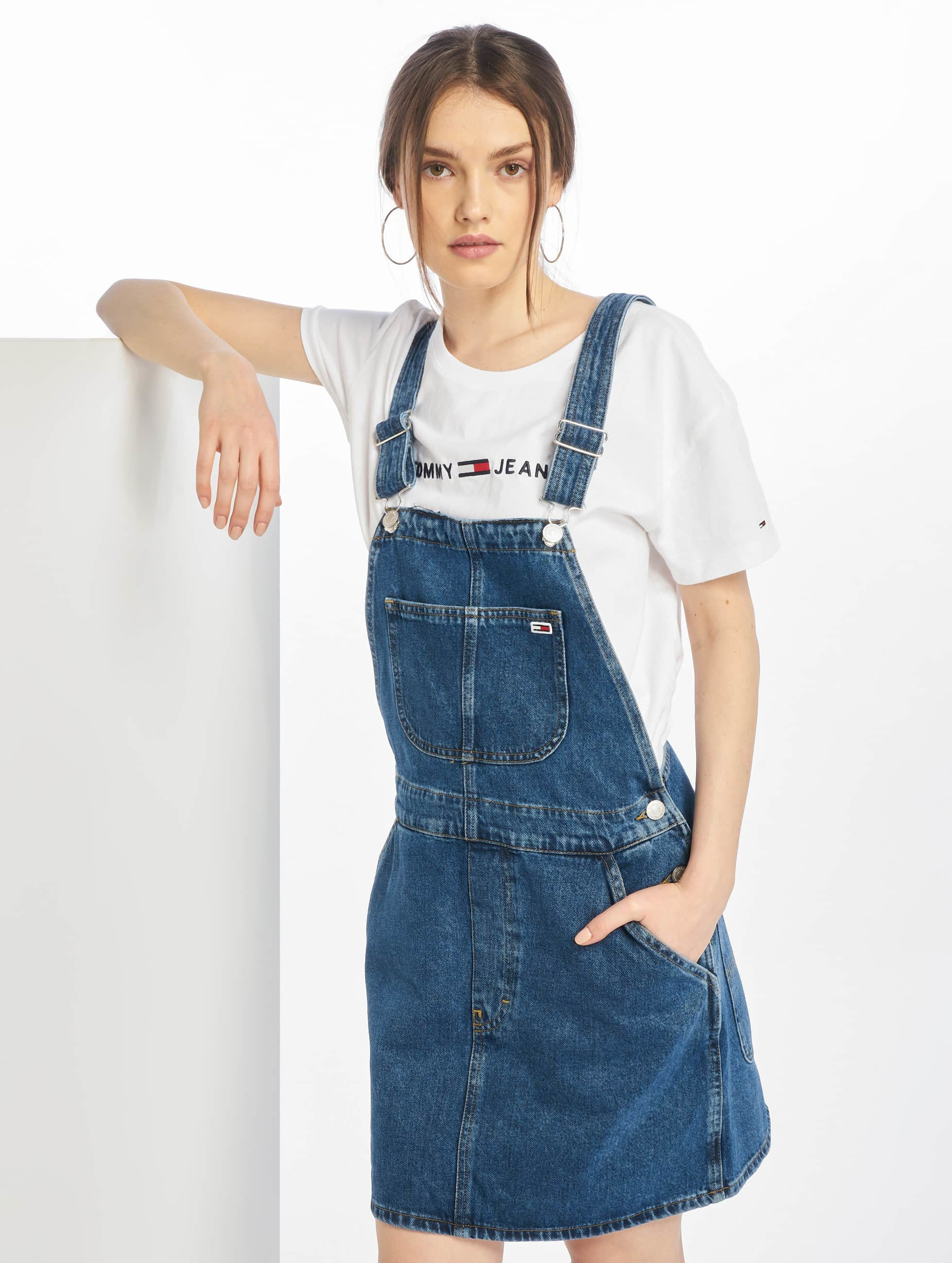 e615e9010fff3d Tommy Jeans Damen Kleid Classic Dungaree Dress in blau 642240